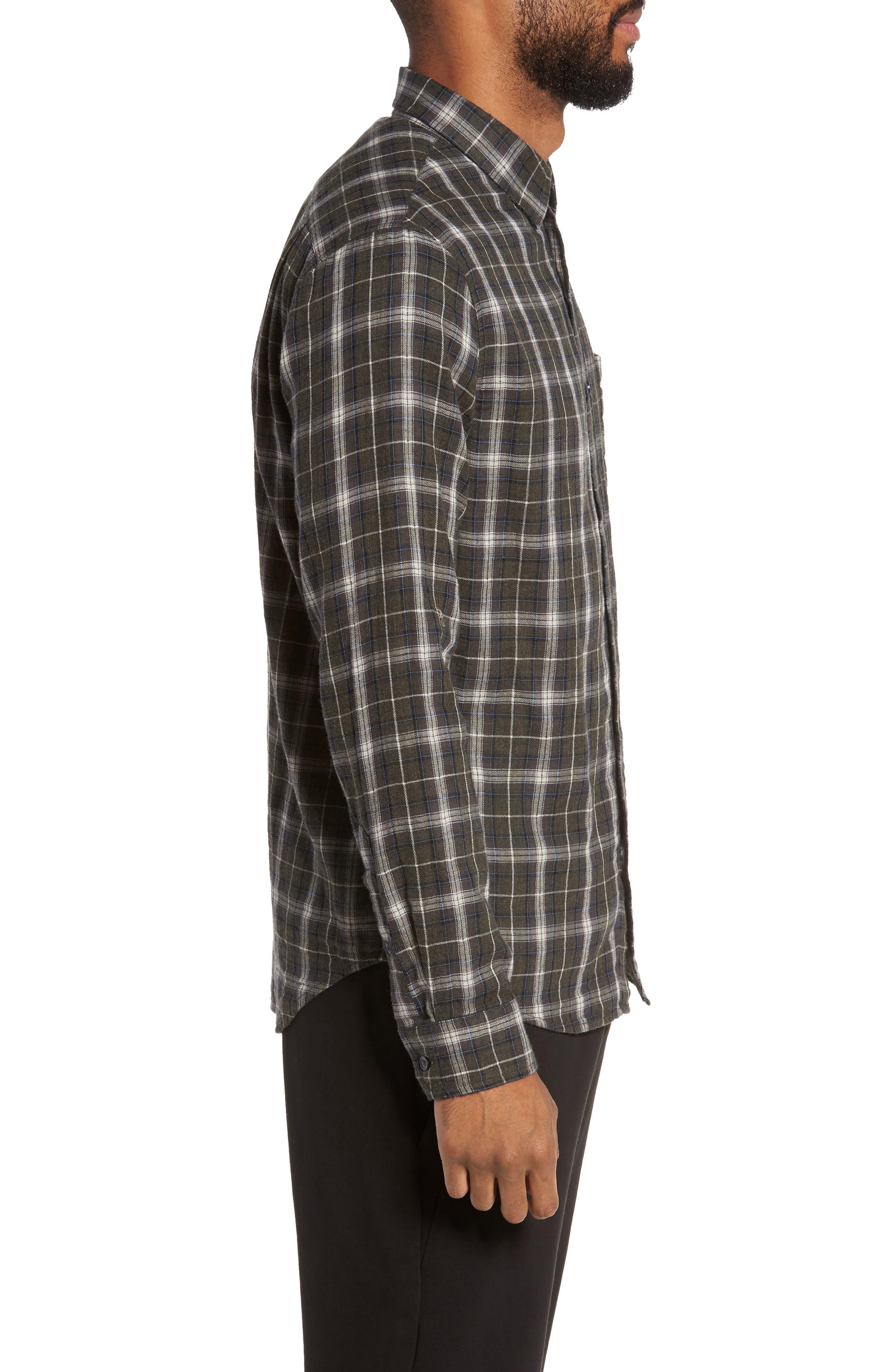 Plaid Double Face Sport Shirt,                             Alternate thumbnail 3, color,                             200