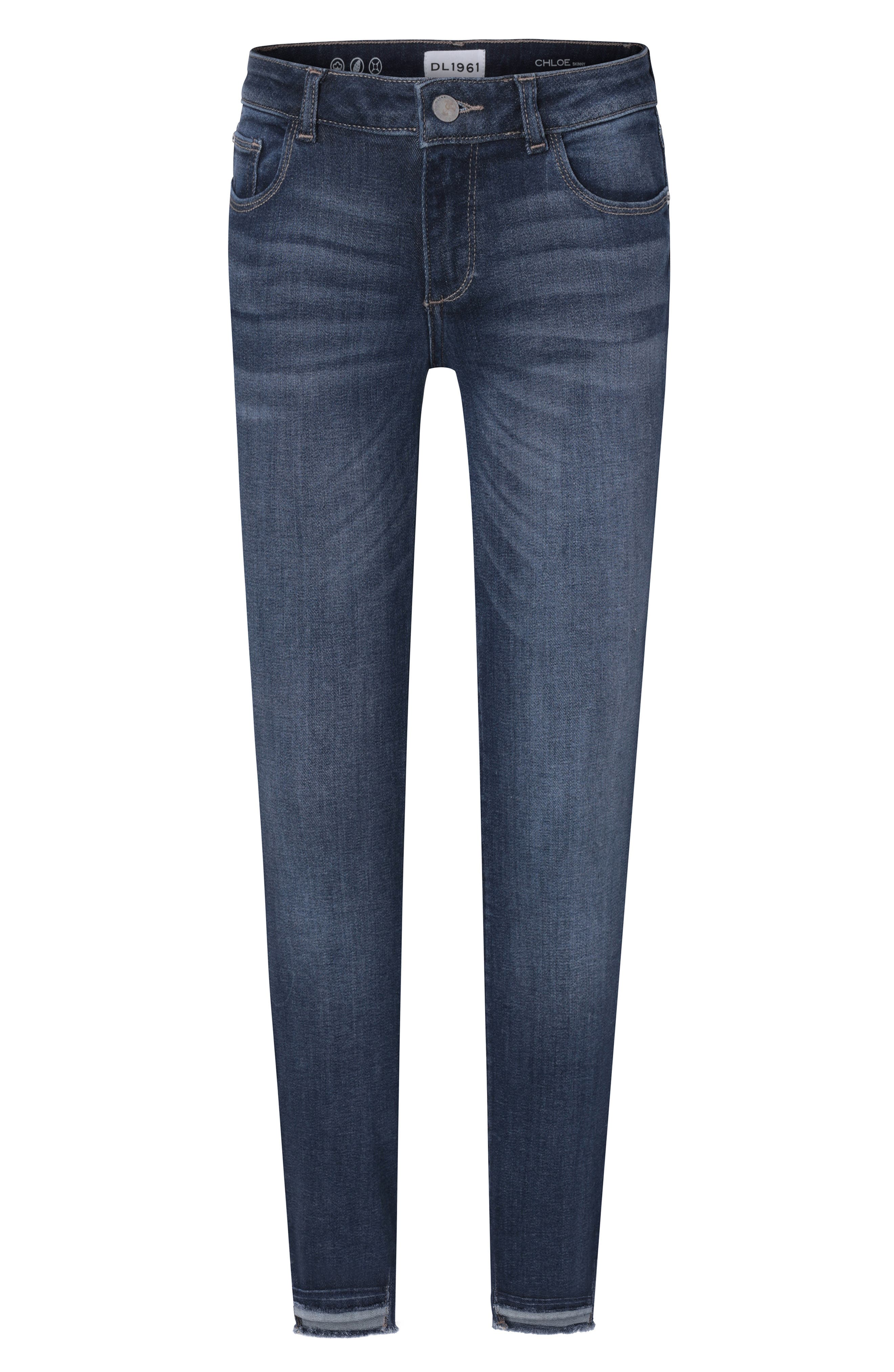 Raw Step Hem Stretch Denim Skinny Jeans,                         Main,                         color, ARCADE
