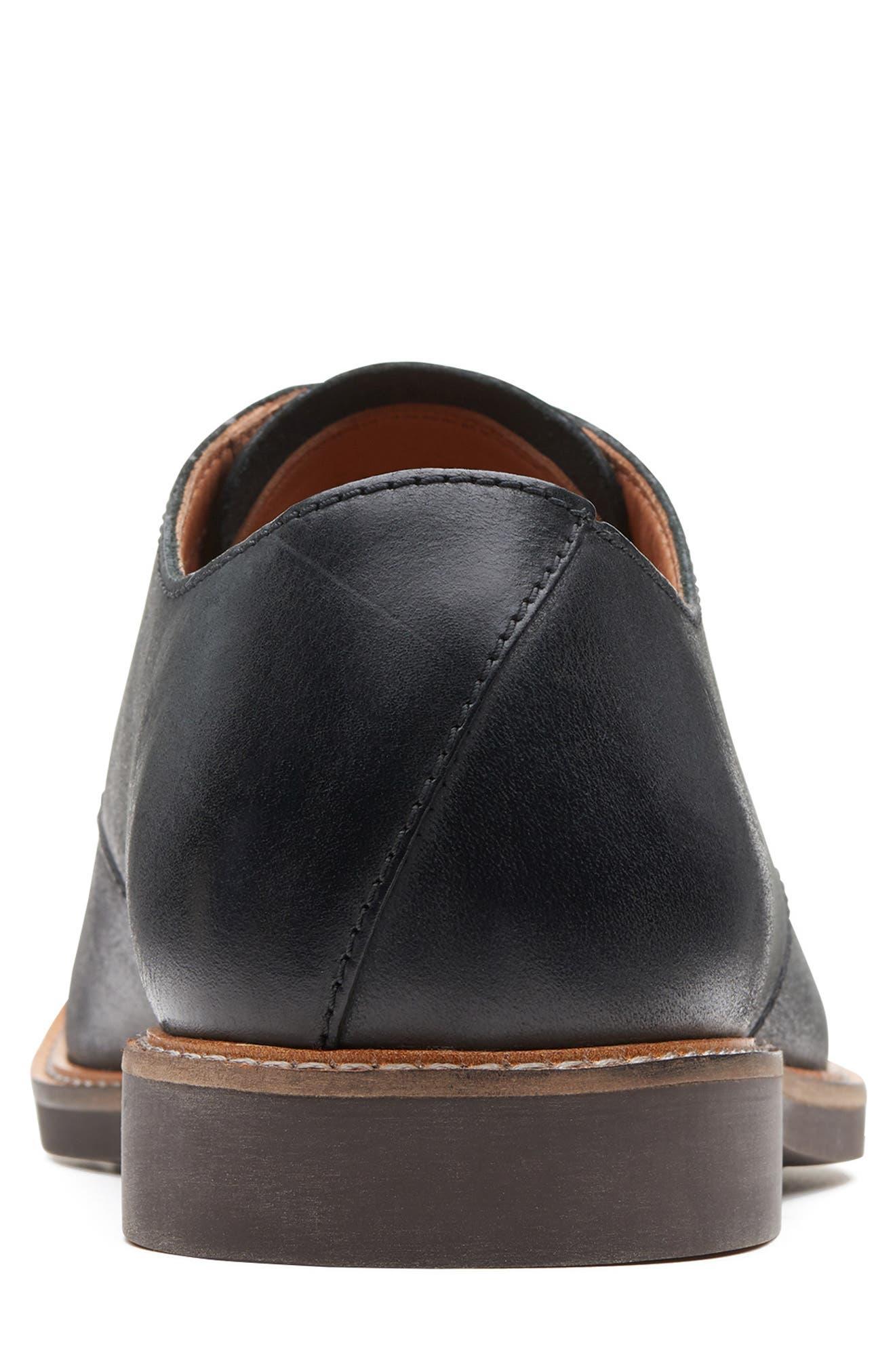 Clarks<sup>®</sup> Atticus Plain Toe Derby,                             Alternate thumbnail 4, color,                             BLACK LEATHER