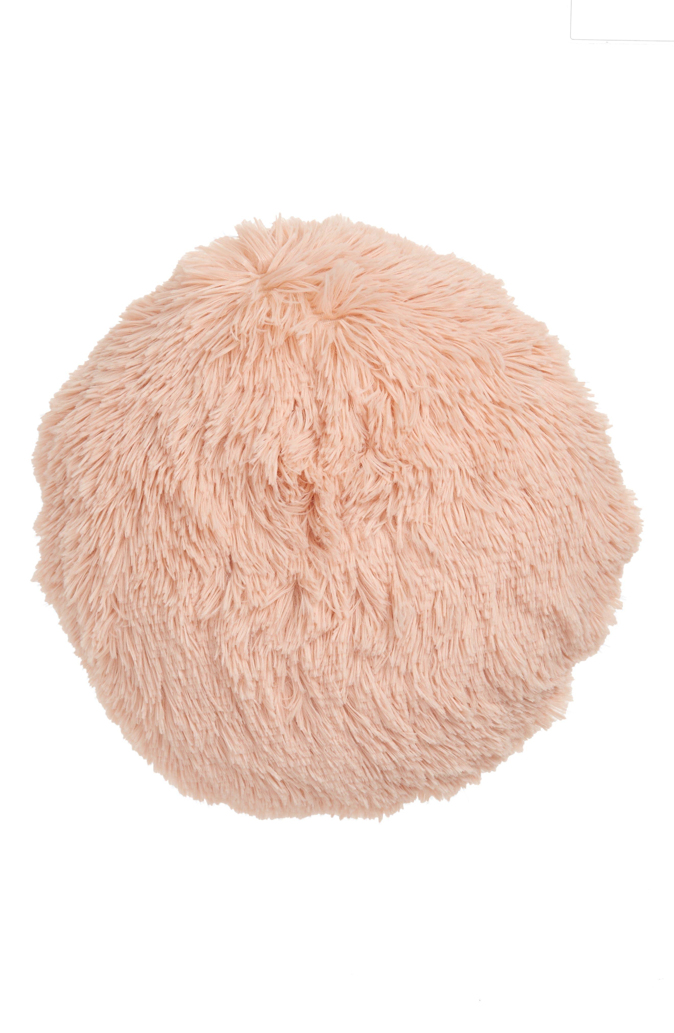 Feather Faux Fur Pillow,                             Main thumbnail 4, color,