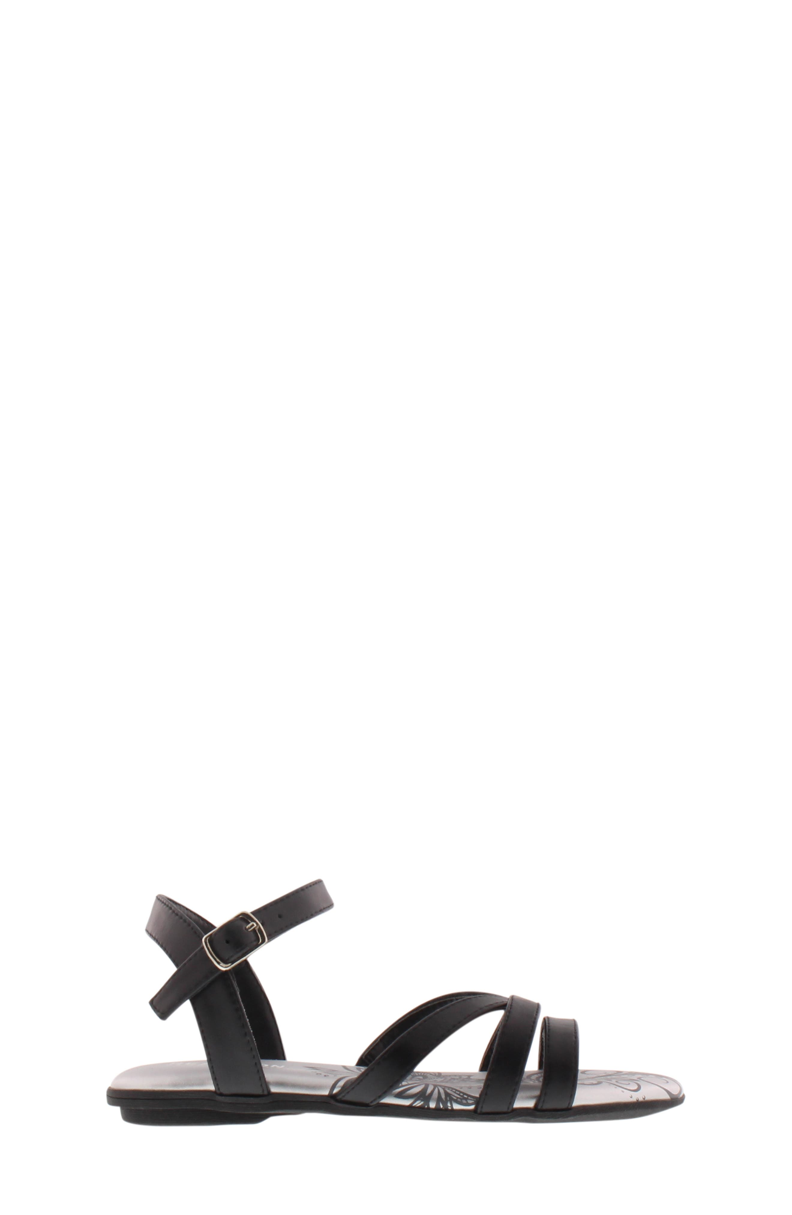 REACTION KENNETH COLE,                             Bright Lilly Strappy Sandal,                             Alternate thumbnail 8, color,                             BLACK