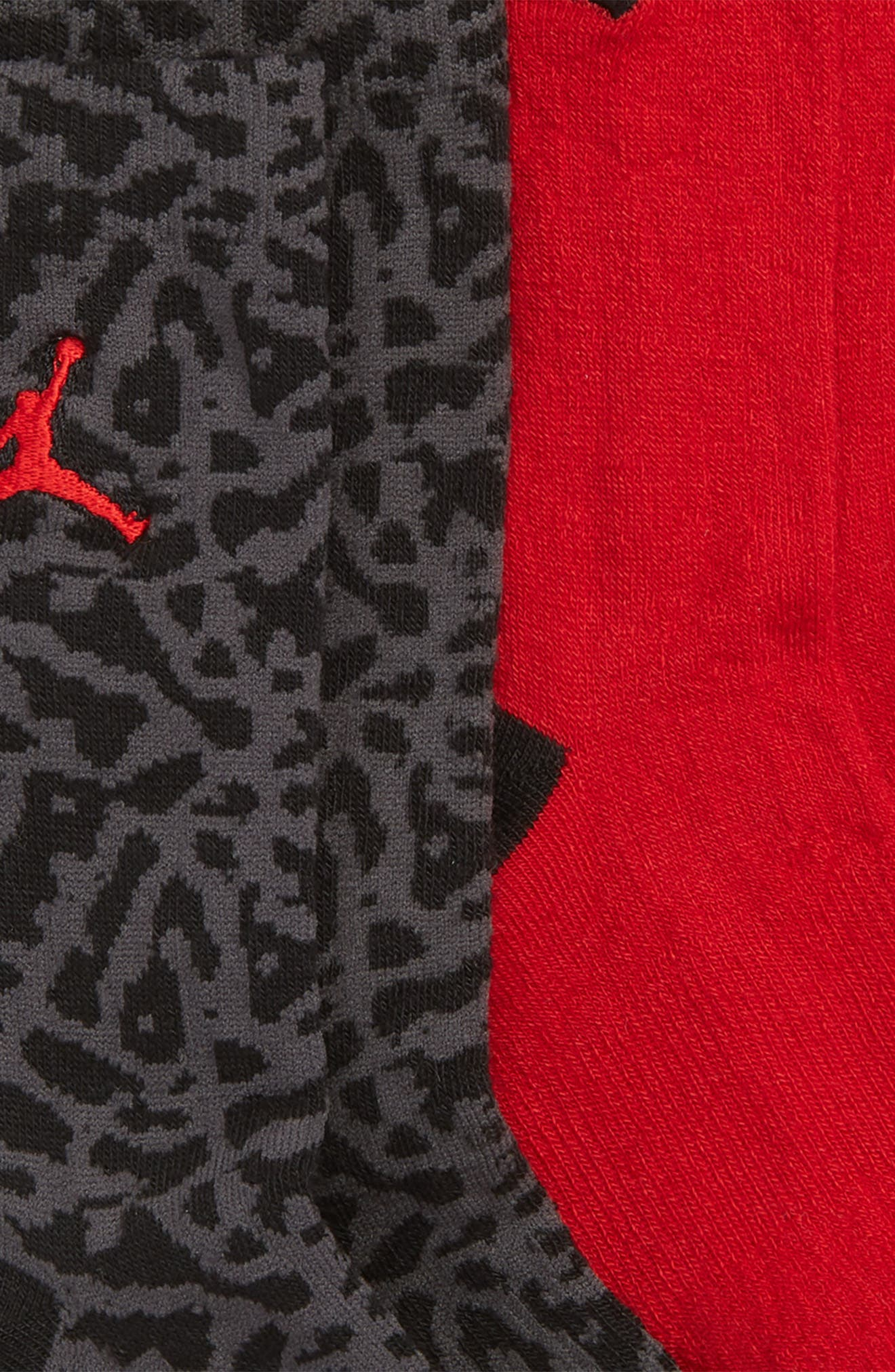 2-Pack Jumpman Elephant High Crew Socks,                             Alternate thumbnail 2, color,                             BLACK