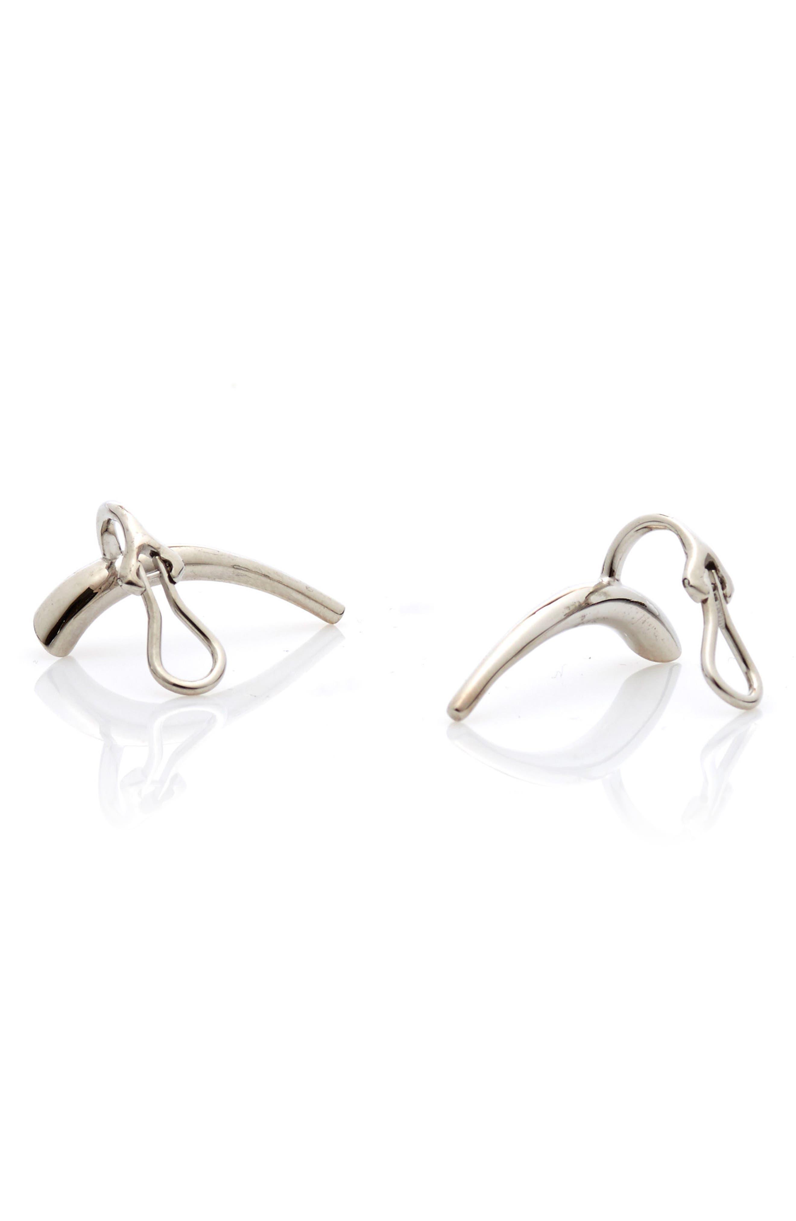 Helix Silver Ear Cuffs,                             Main thumbnail 1, color,