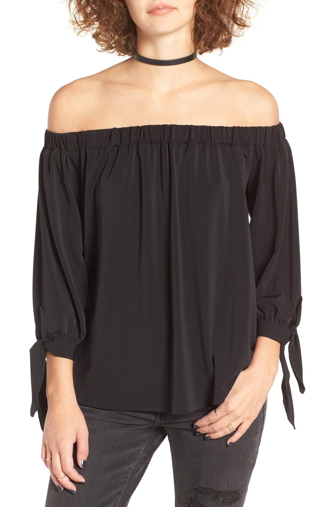 BP. Off the Shoulder Top, Main, color, 001
