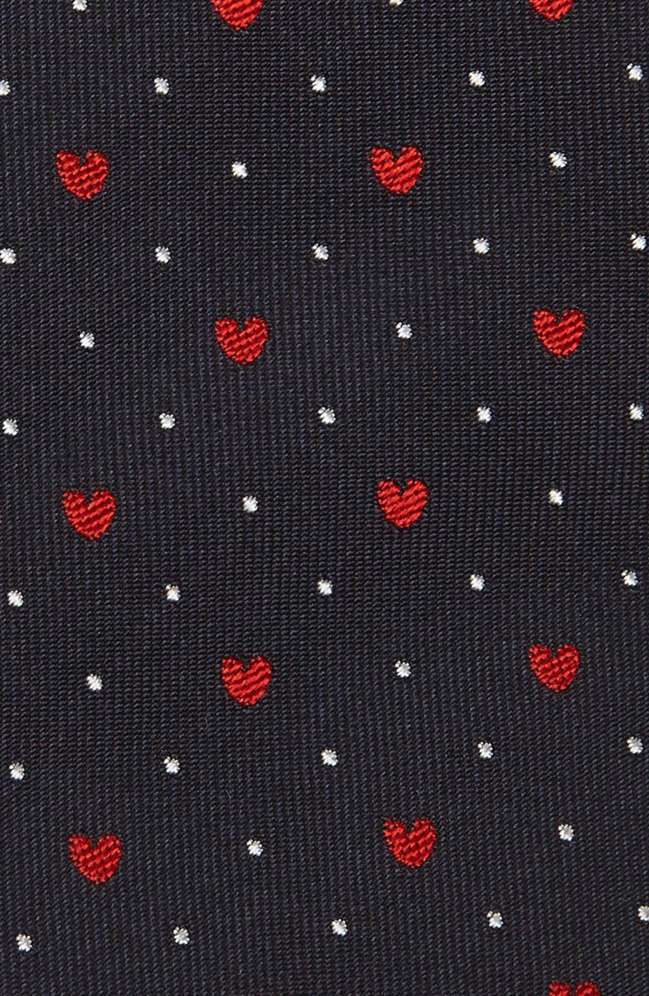 PAUL SMITH,                             Heart Silk Tie,                             Alternate thumbnail 2, color,                             NAVY