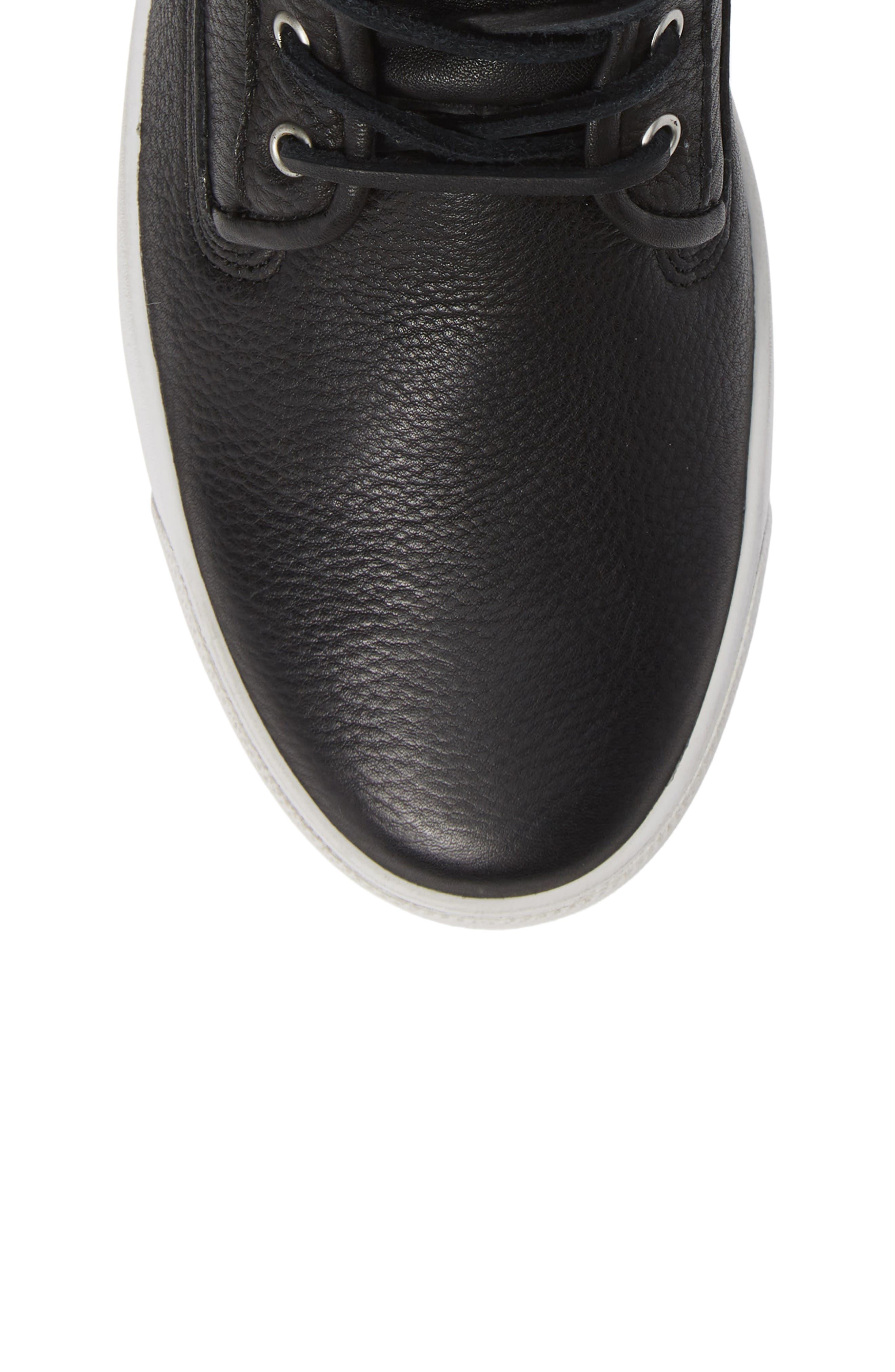 QM80 High Top Sneaker,                             Alternate thumbnail 5, color,                             BLACK