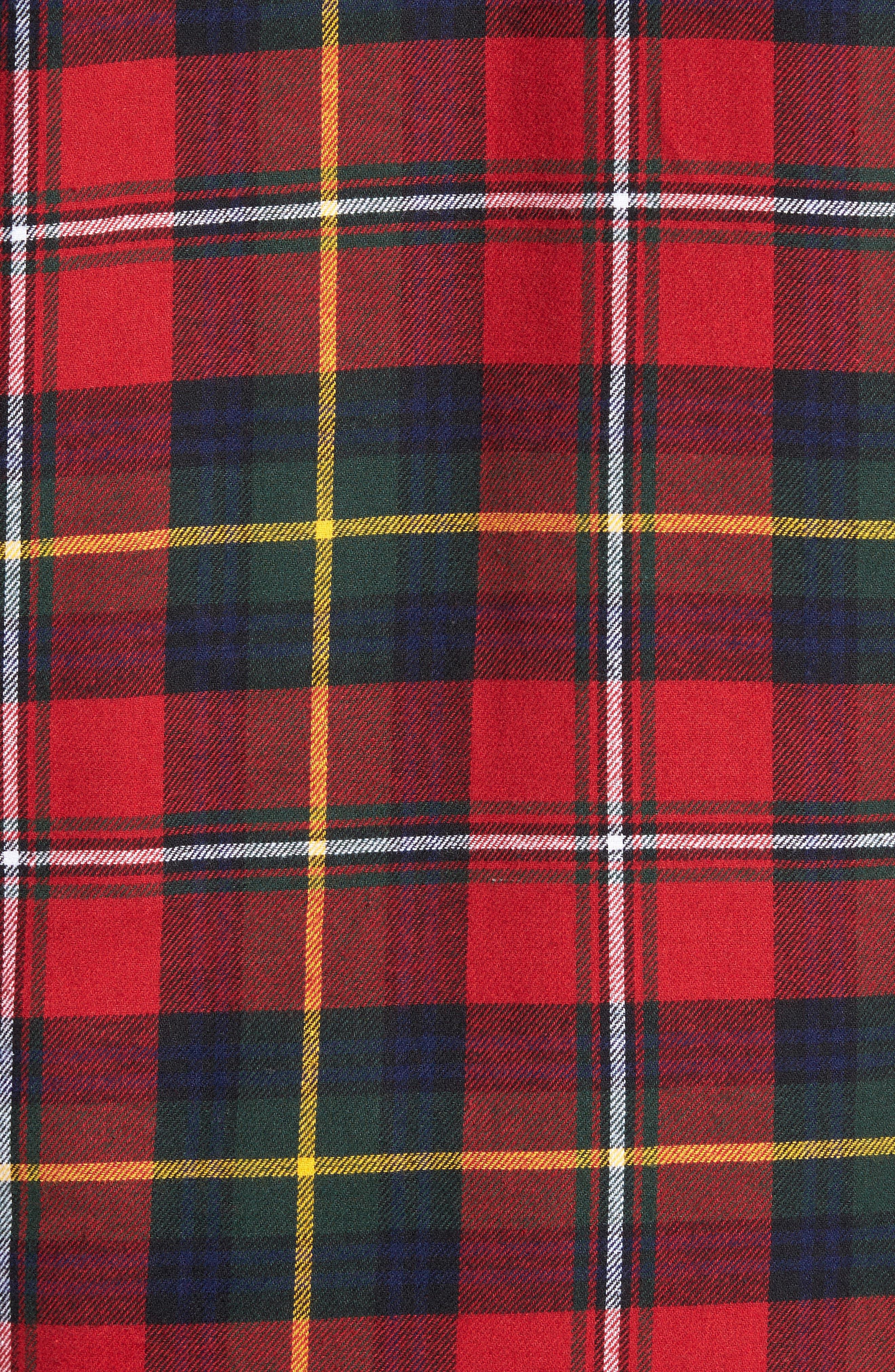 Polo Ralph Lauren Flannel Pajama Shirt,                             Alternate thumbnail 20, color,