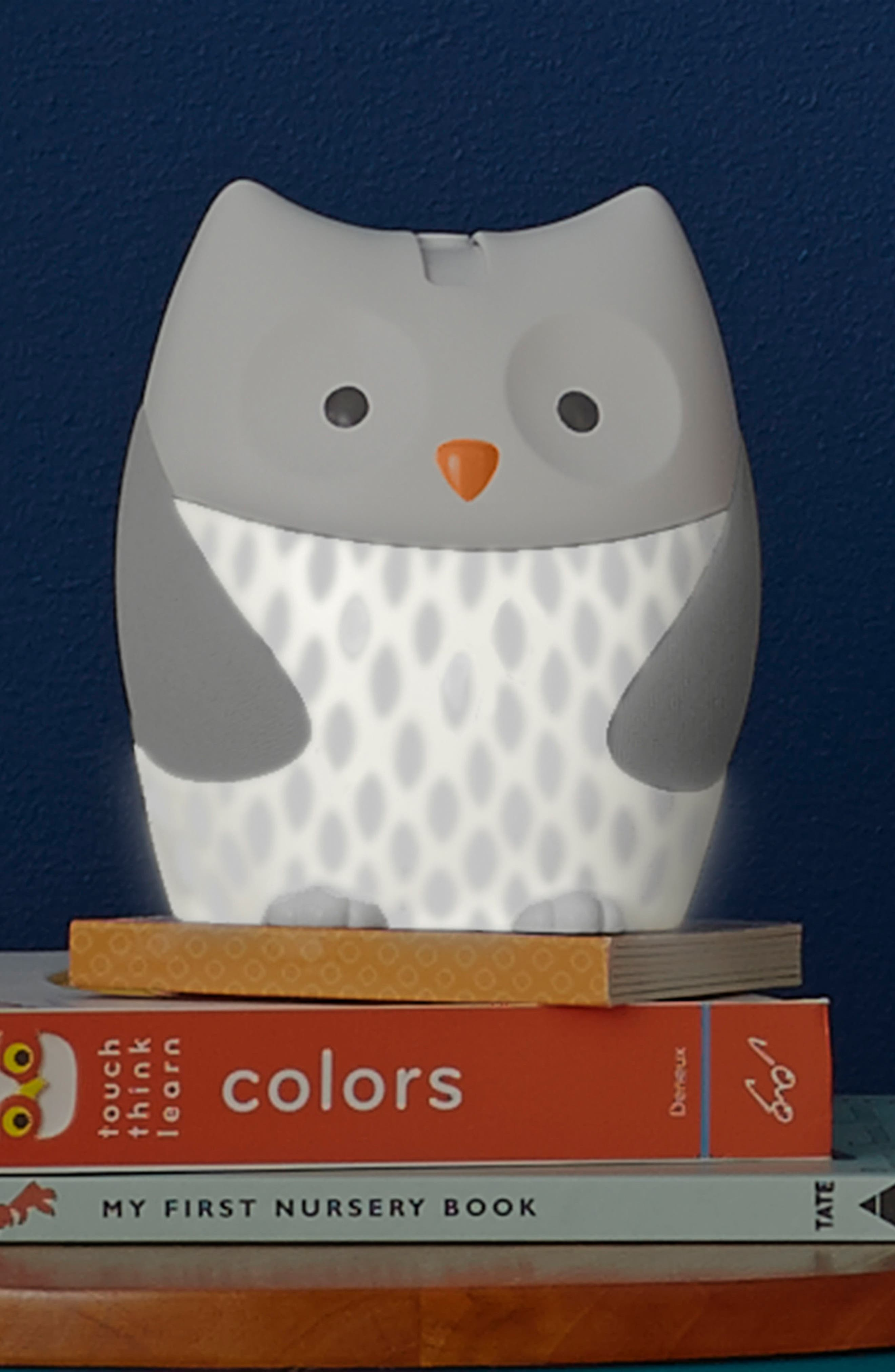 Owl Nightlight Soother,                             Alternate thumbnail 4, color,                             WHITE