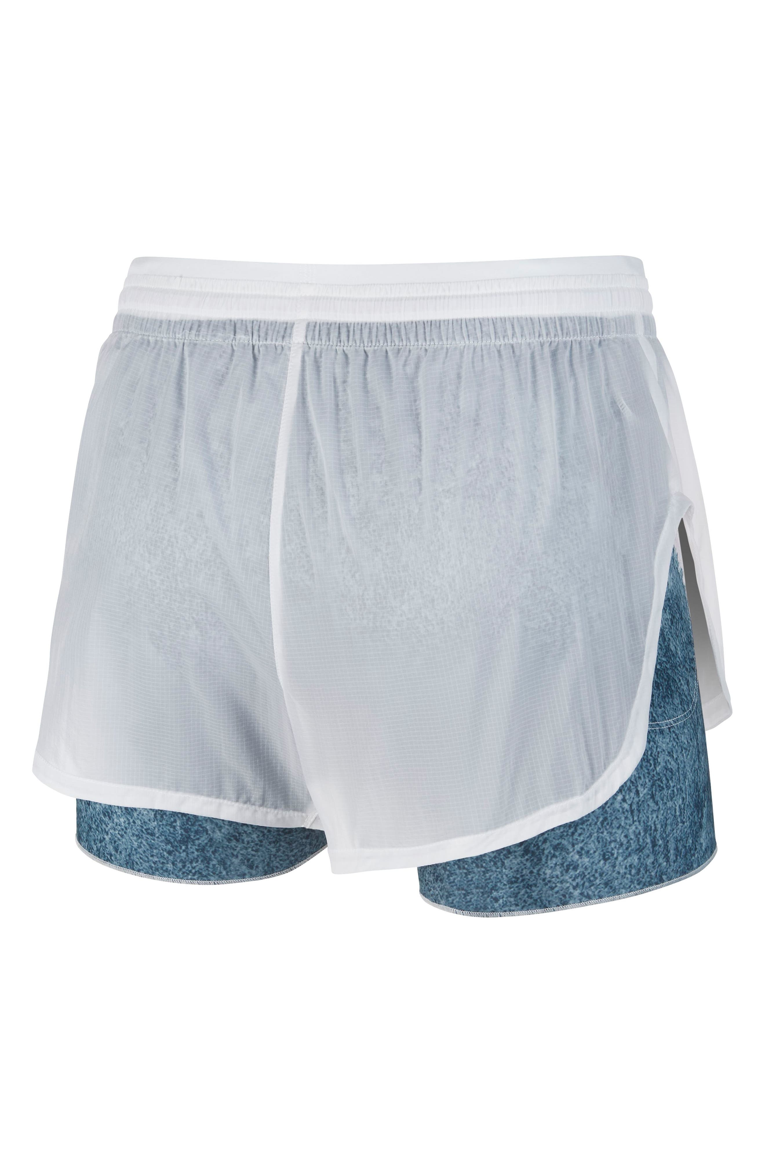 Elevate 2-in-1 Running Shorts,                             Alternate thumbnail 8, color,                             WHITE