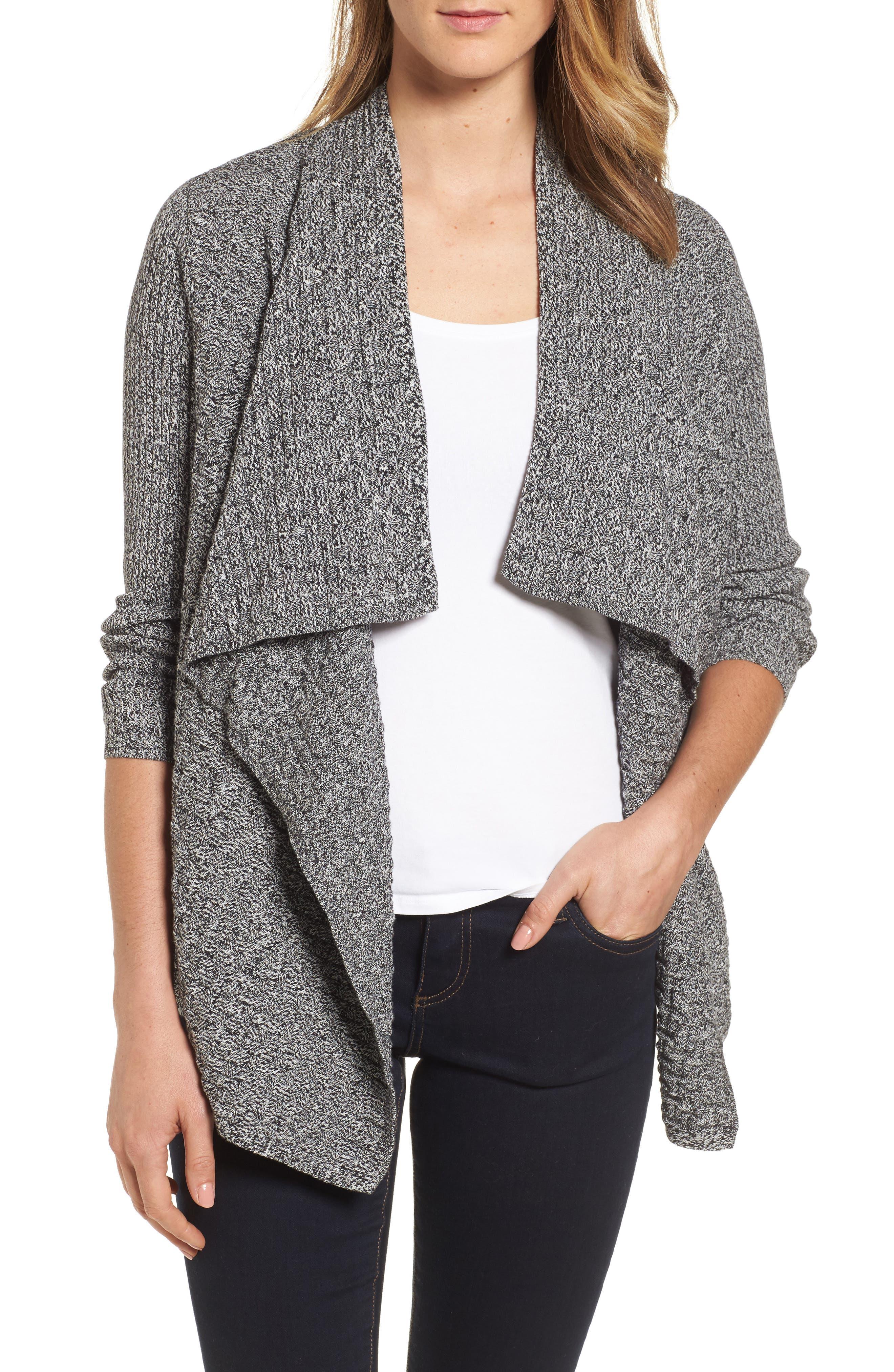 Mixed Cotton Knit Cardigan,                         Main,                         color, 005