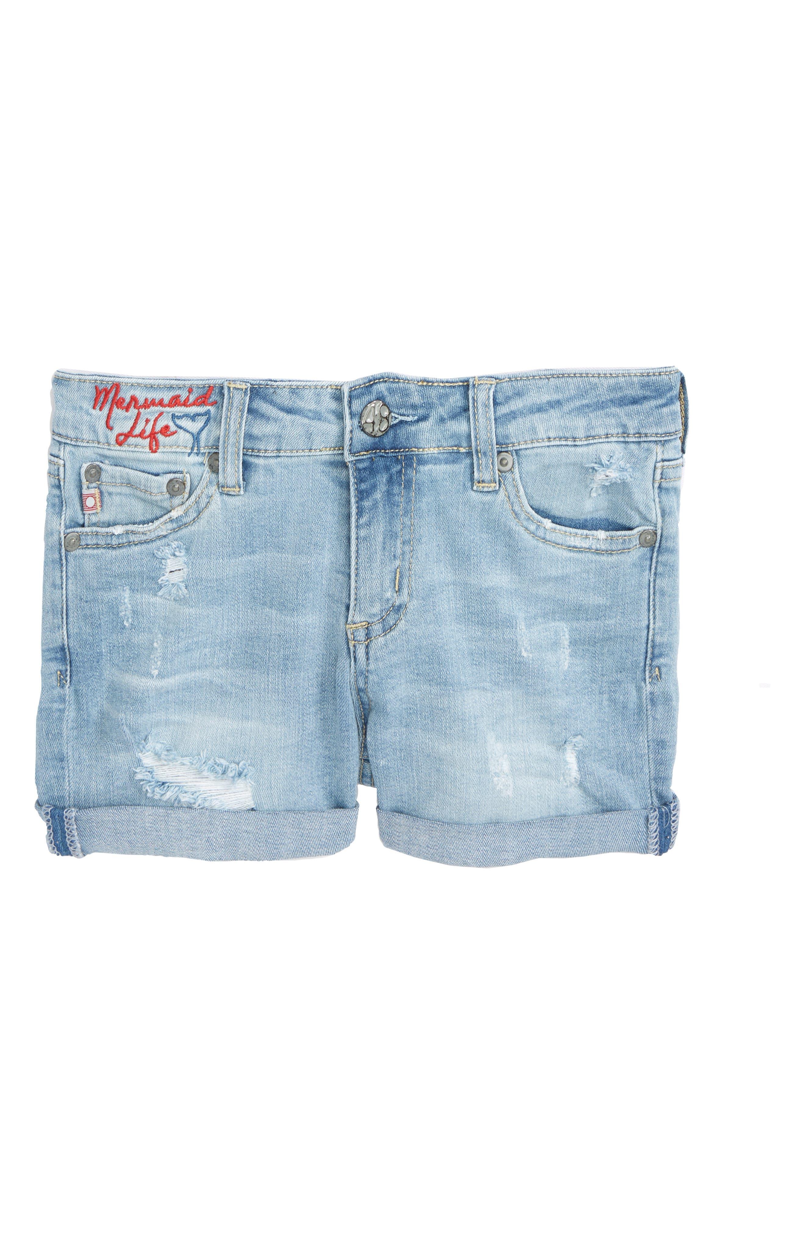The Heather Denim Shorts,                         Main,                         color,