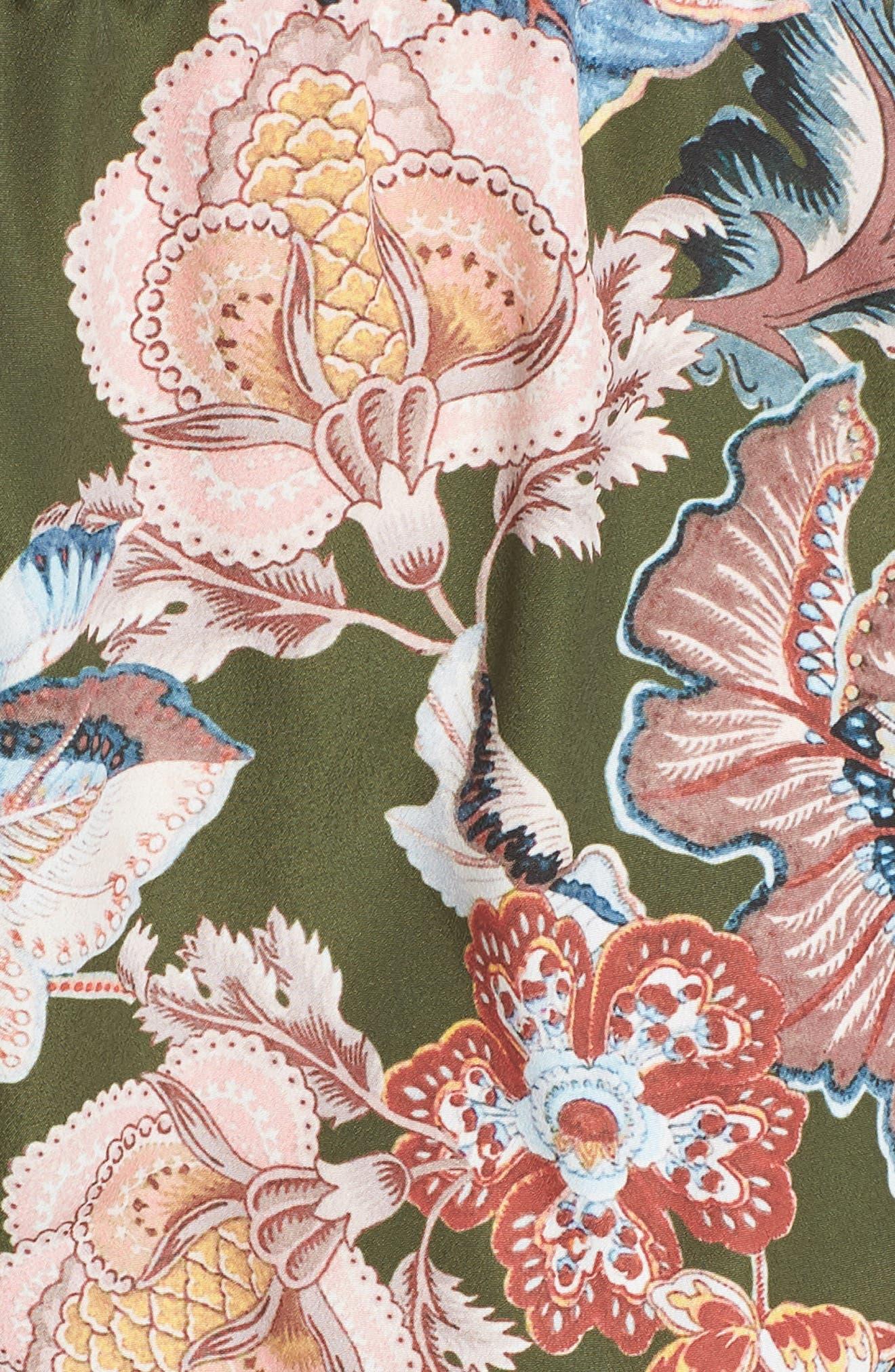 Lola Shorts,                             Alternate thumbnail 5, color,                             OLIVE FLORAL