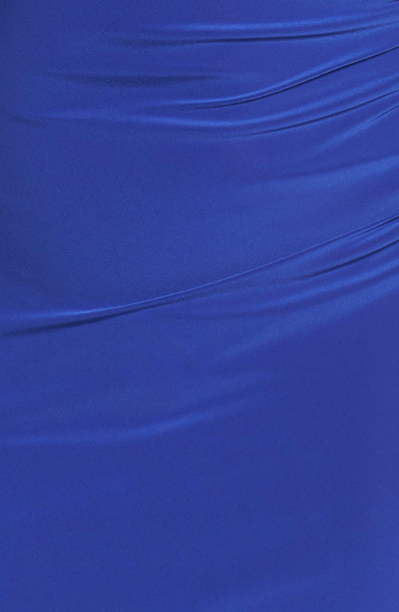 Embellished Neck Matte Jersey Gown,                             Alternate thumbnail 10, color,