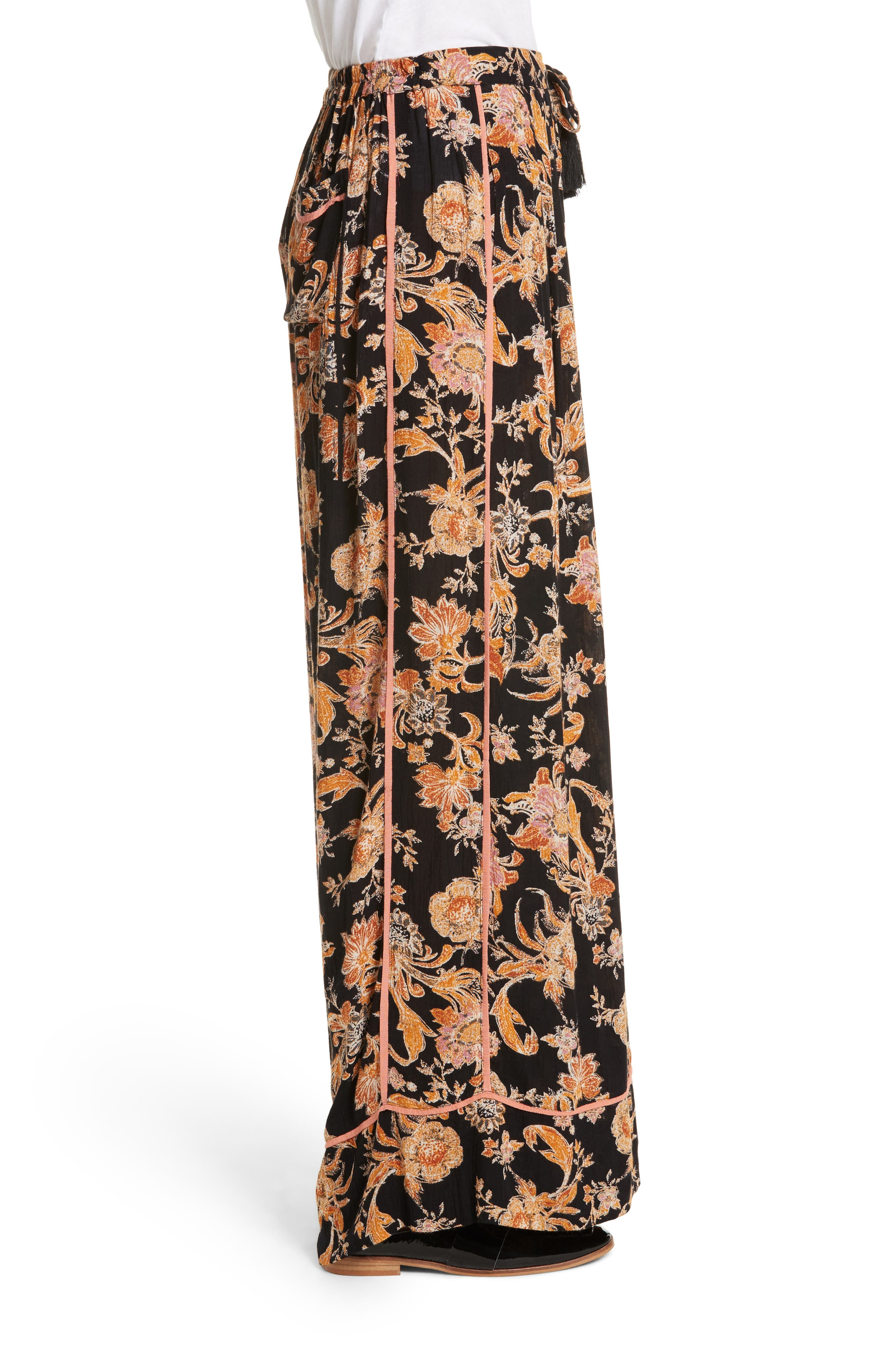 Bali Wildflower Wide Leg Pants,                             Alternate thumbnail 5, color,