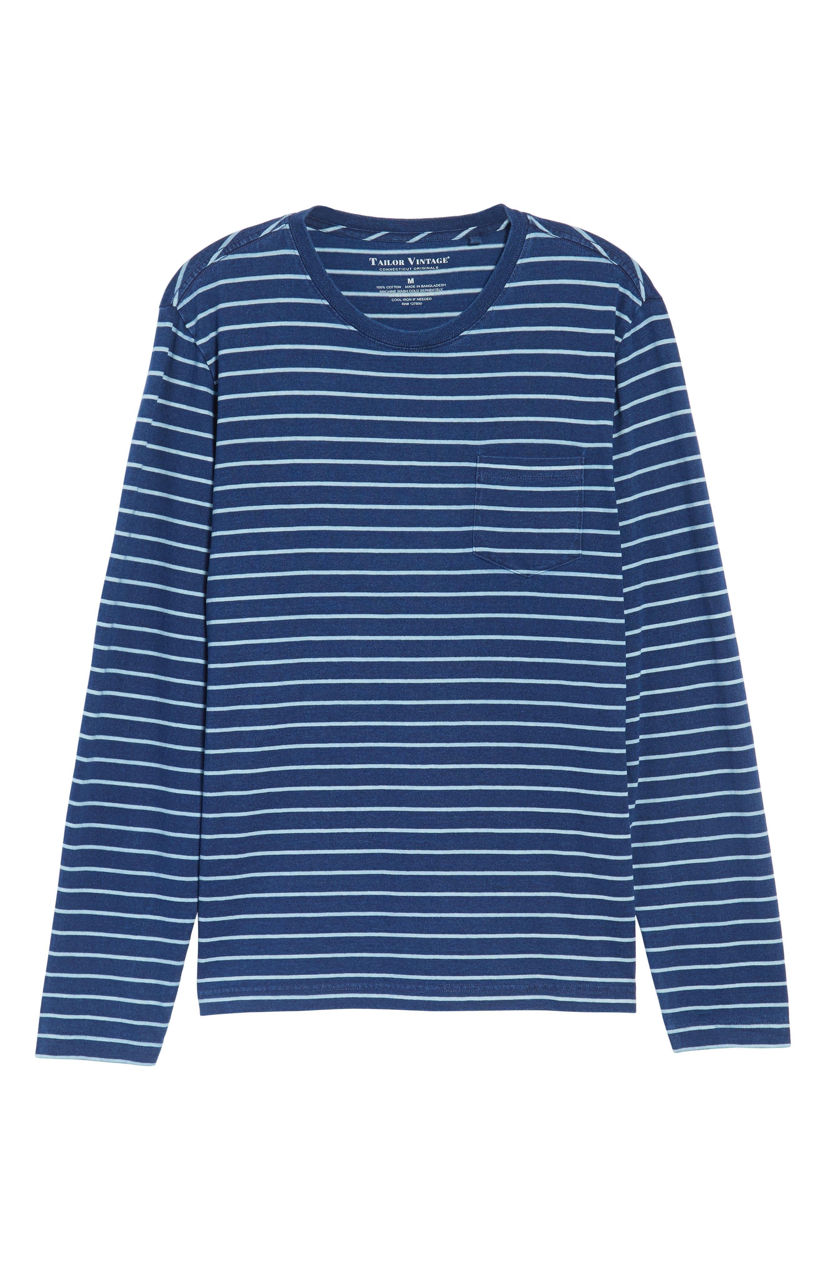 Sailor Stripe Jersey T-Shirt,                             Alternate thumbnail 6, color,                             104