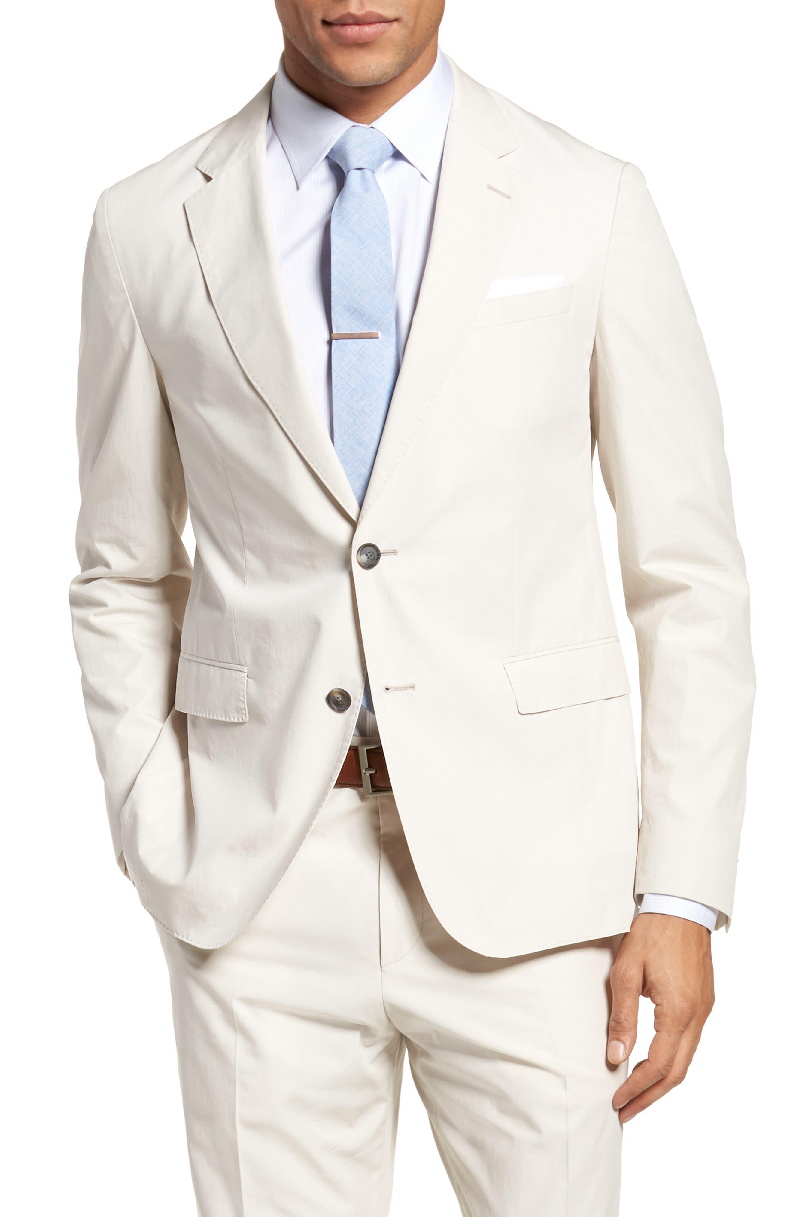 Nylen/Perry Trim Fit Solid Cotton Suit,                             Alternate thumbnail 5, color,