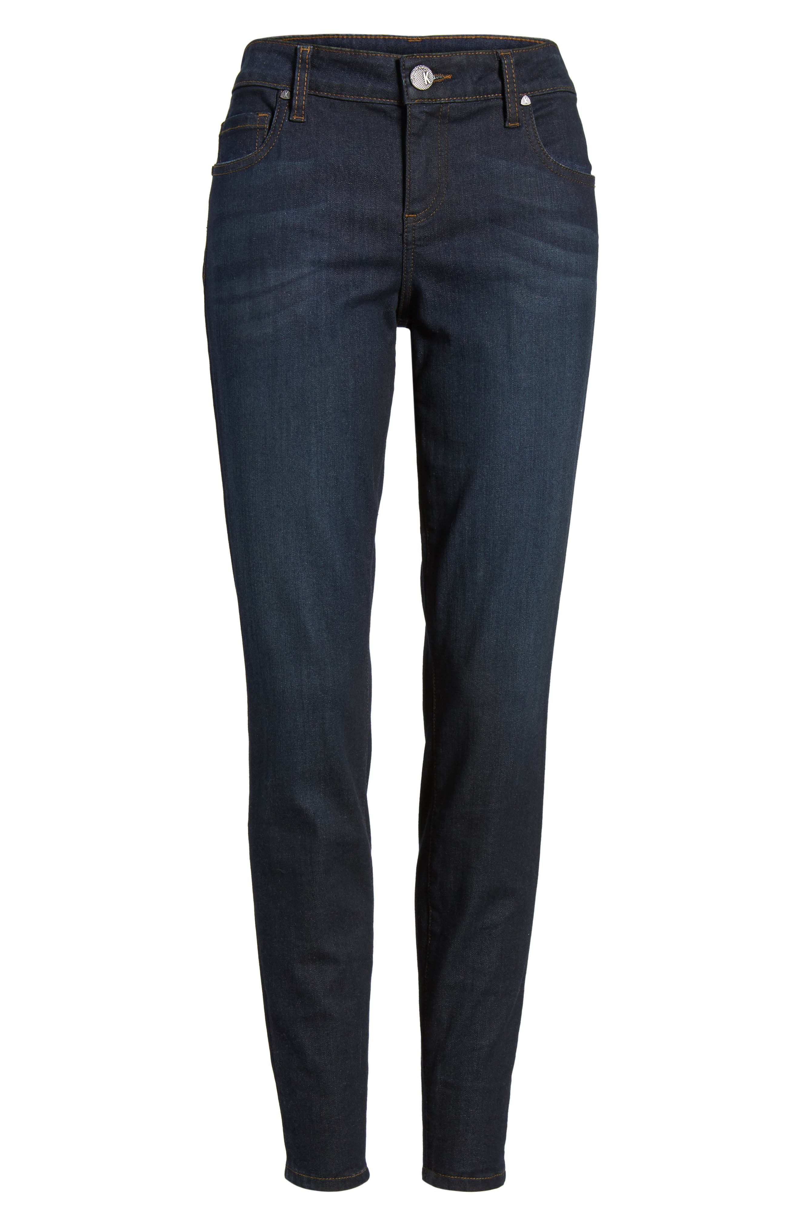 Connie Zip Back Skinny Ankle Jeans,                             Alternate thumbnail 6, color,                             419