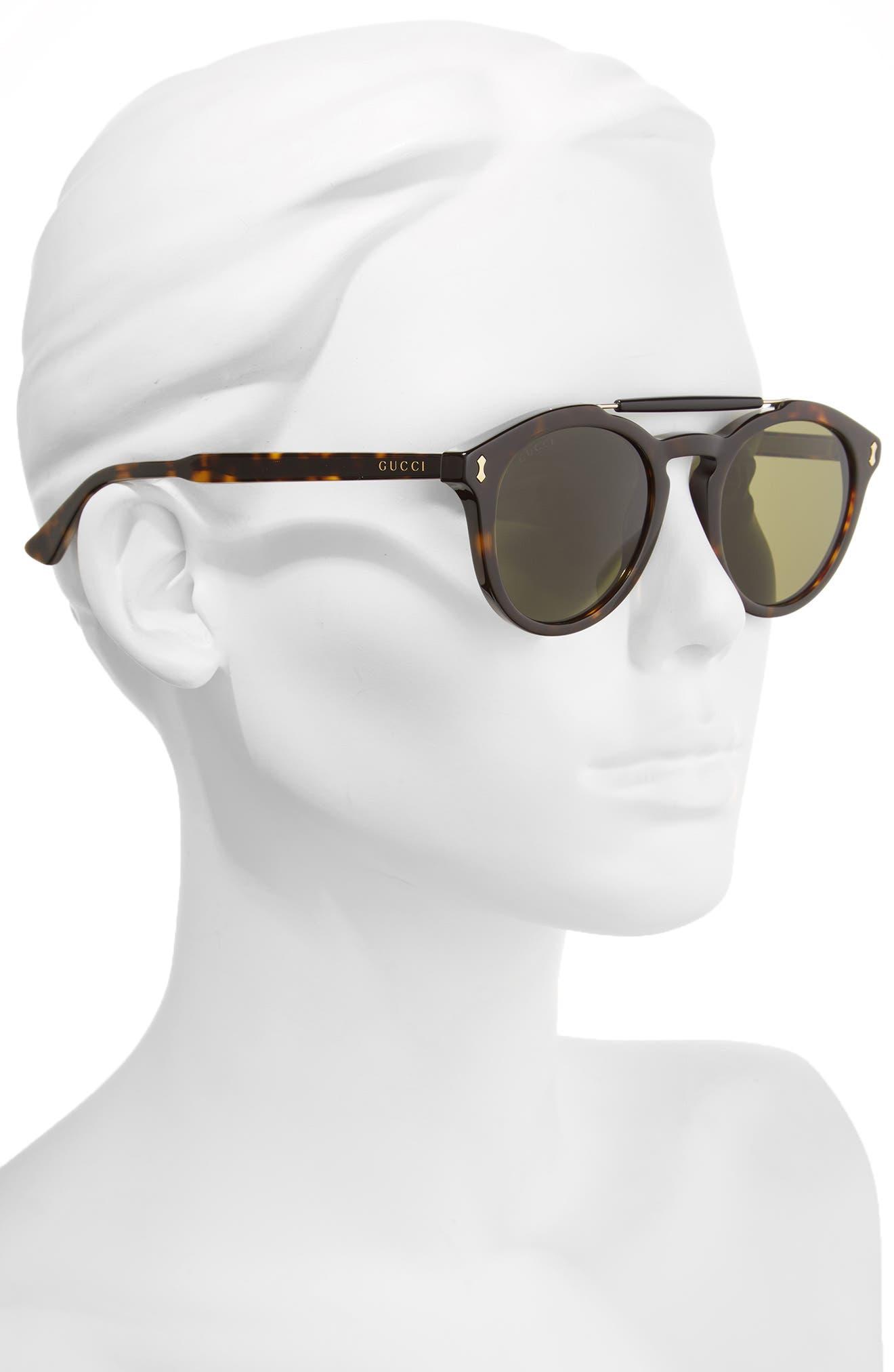 Vintage Pilot 50mm Sunglasses,                             Alternate thumbnail 5, color,