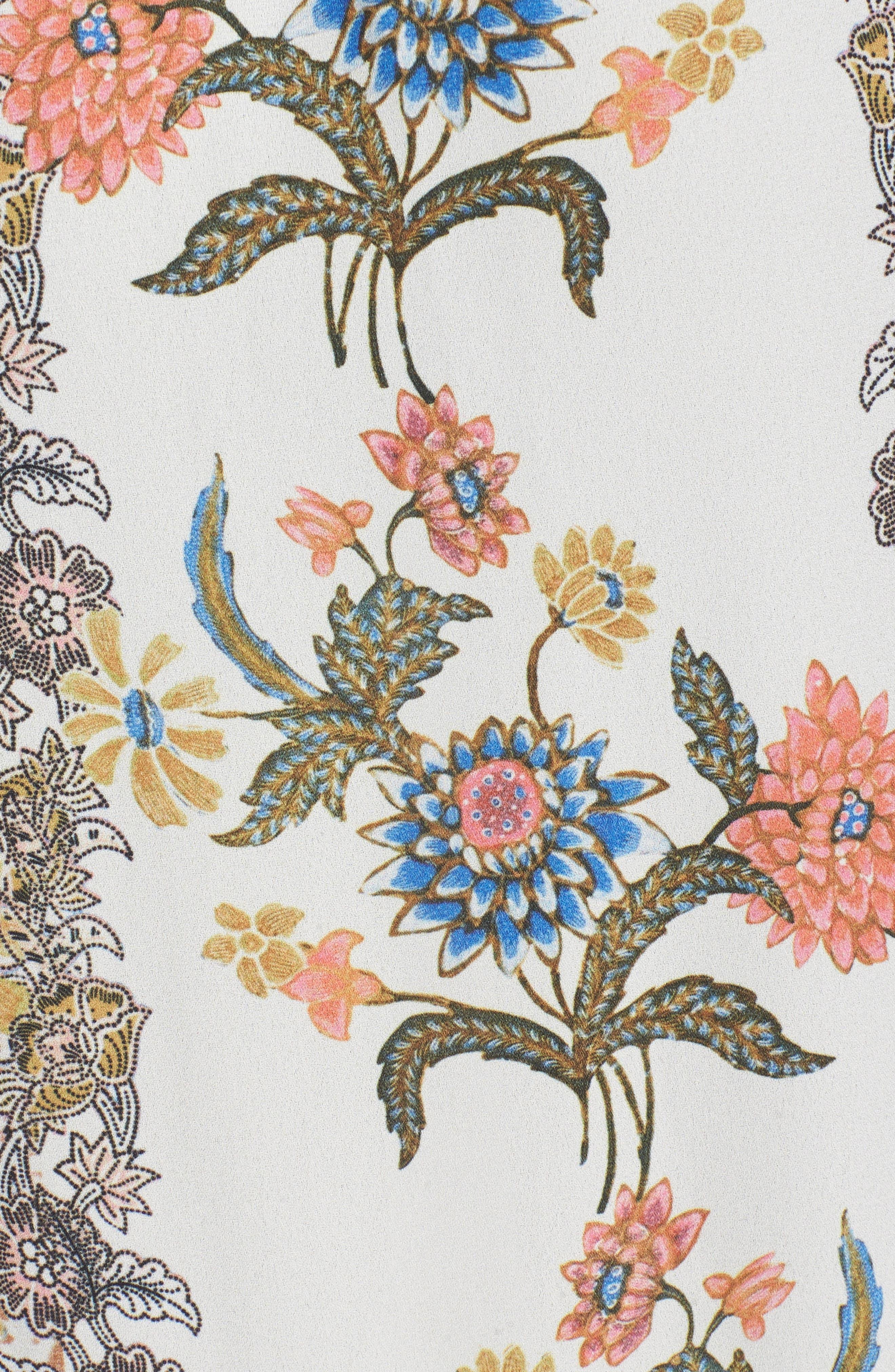 Nica Off the Shoulder Crop Top,                             Alternate thumbnail 5, color,                             BLOOMTASTIC STRIPE