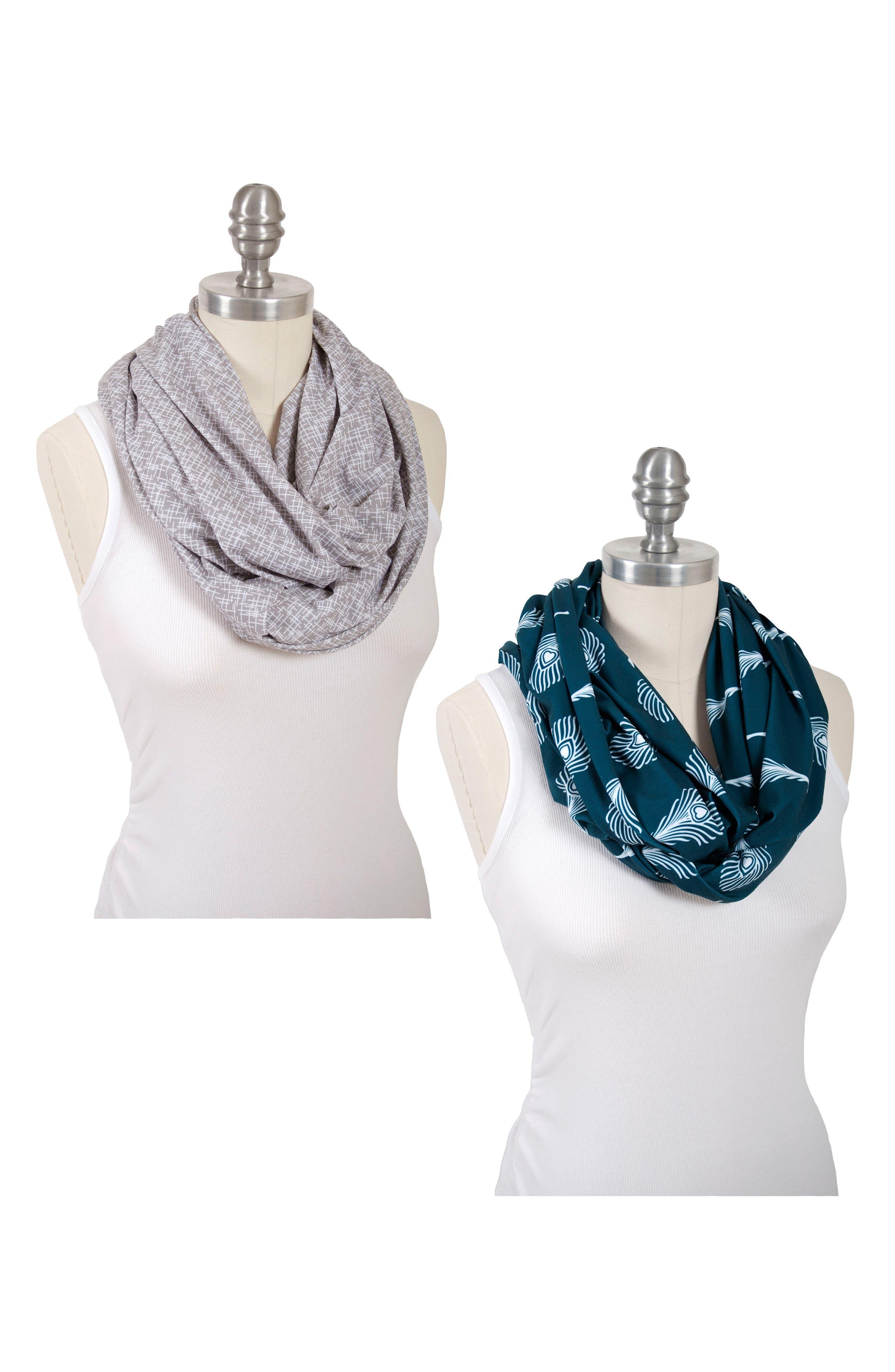 2-Pack Infinity Nursing Scarves,                             Main thumbnail 1, color,
