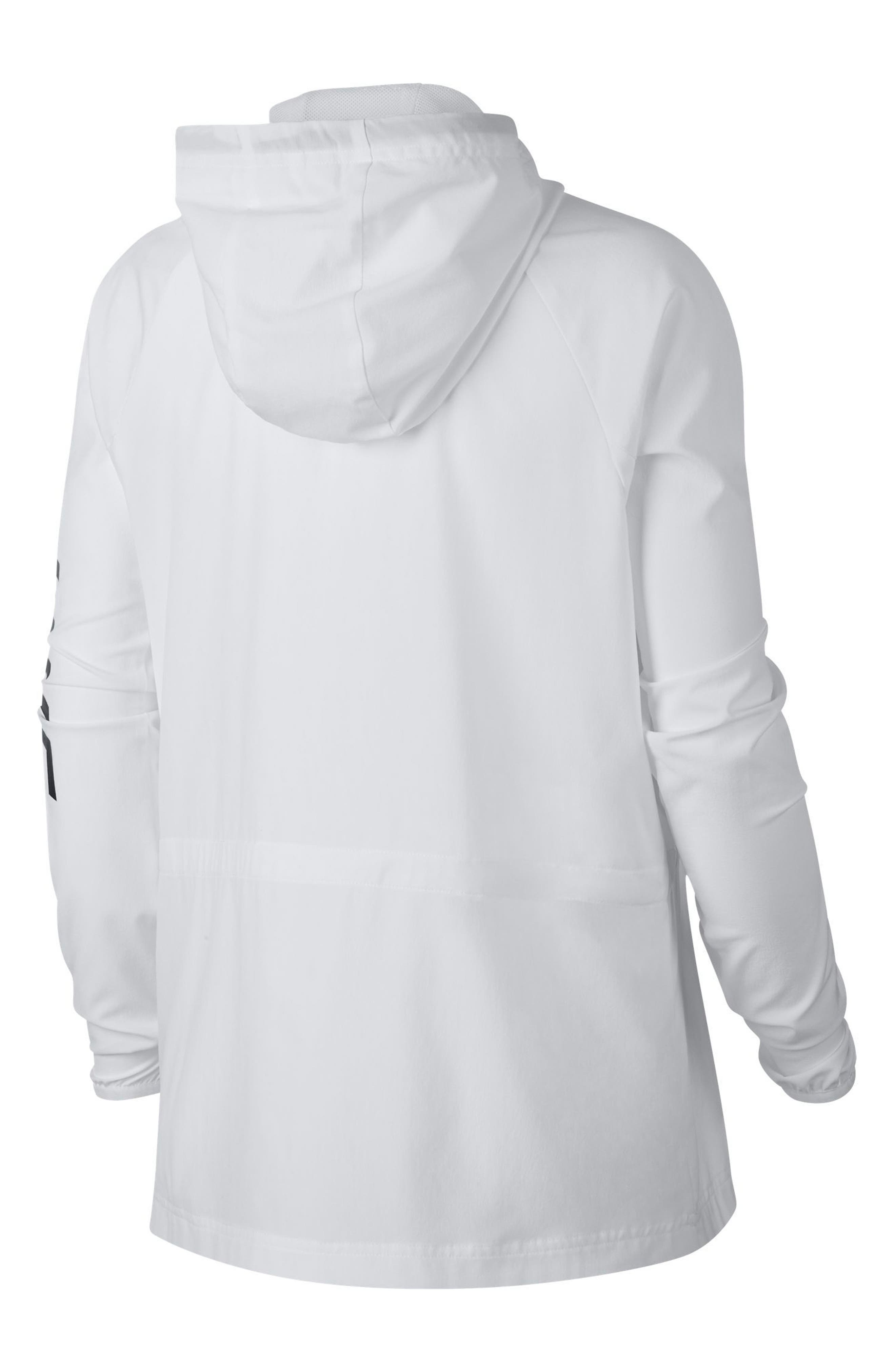 Flex Packable Hooded Training Jacket,                             Alternate thumbnail 9, color,                             100