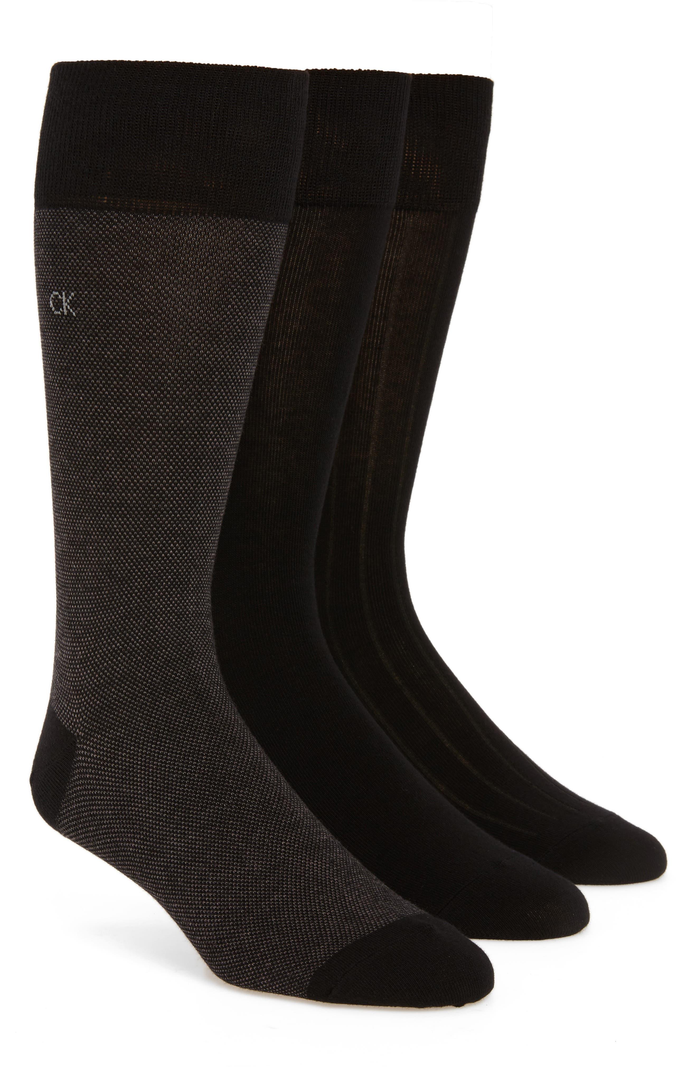 3-Pack Crew Socks,                         Main,                         color, BLACK