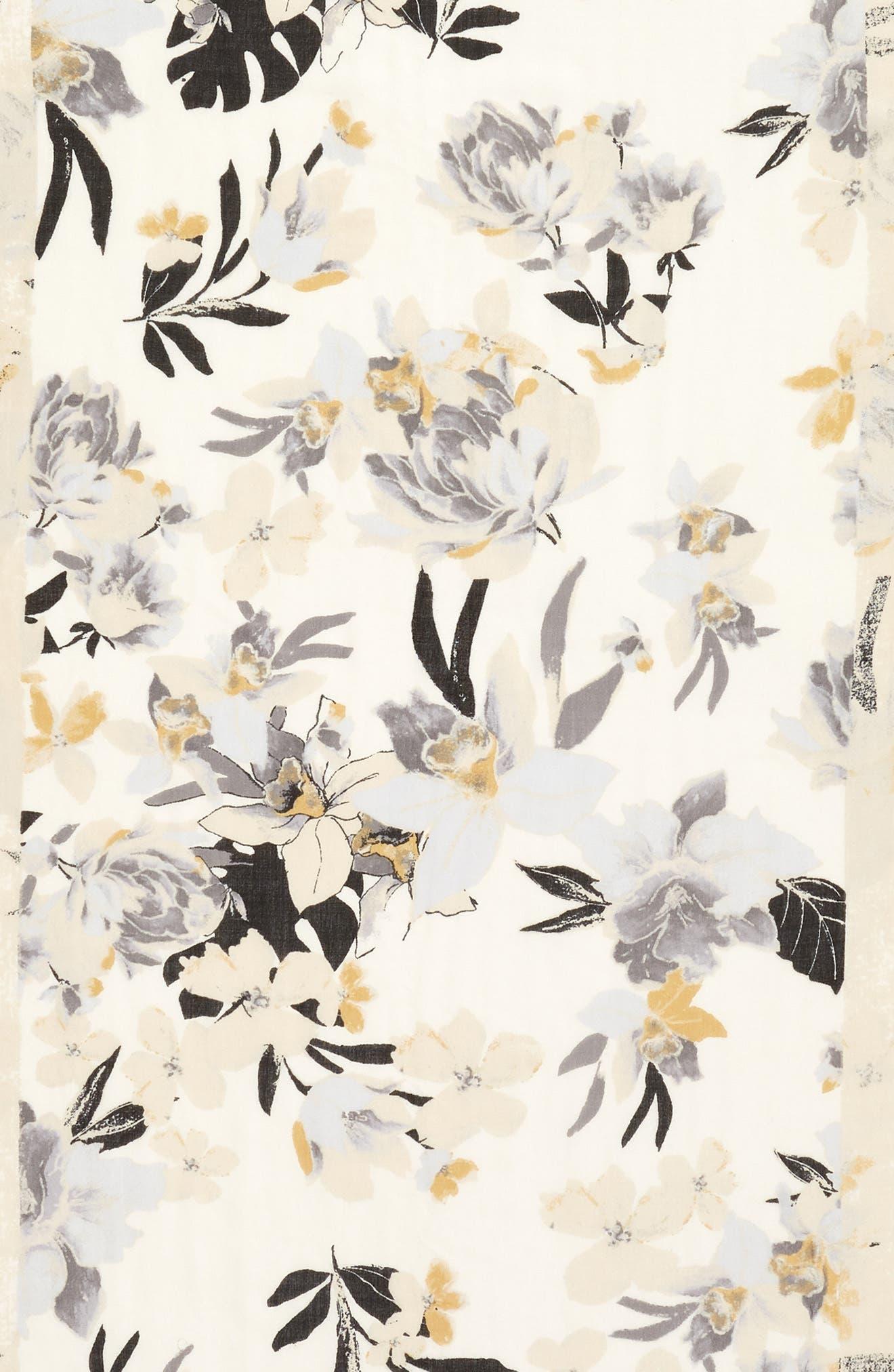 Eyelash Trim Print Cashmere & Silk Wrap,                             Alternate thumbnail 118, color,
