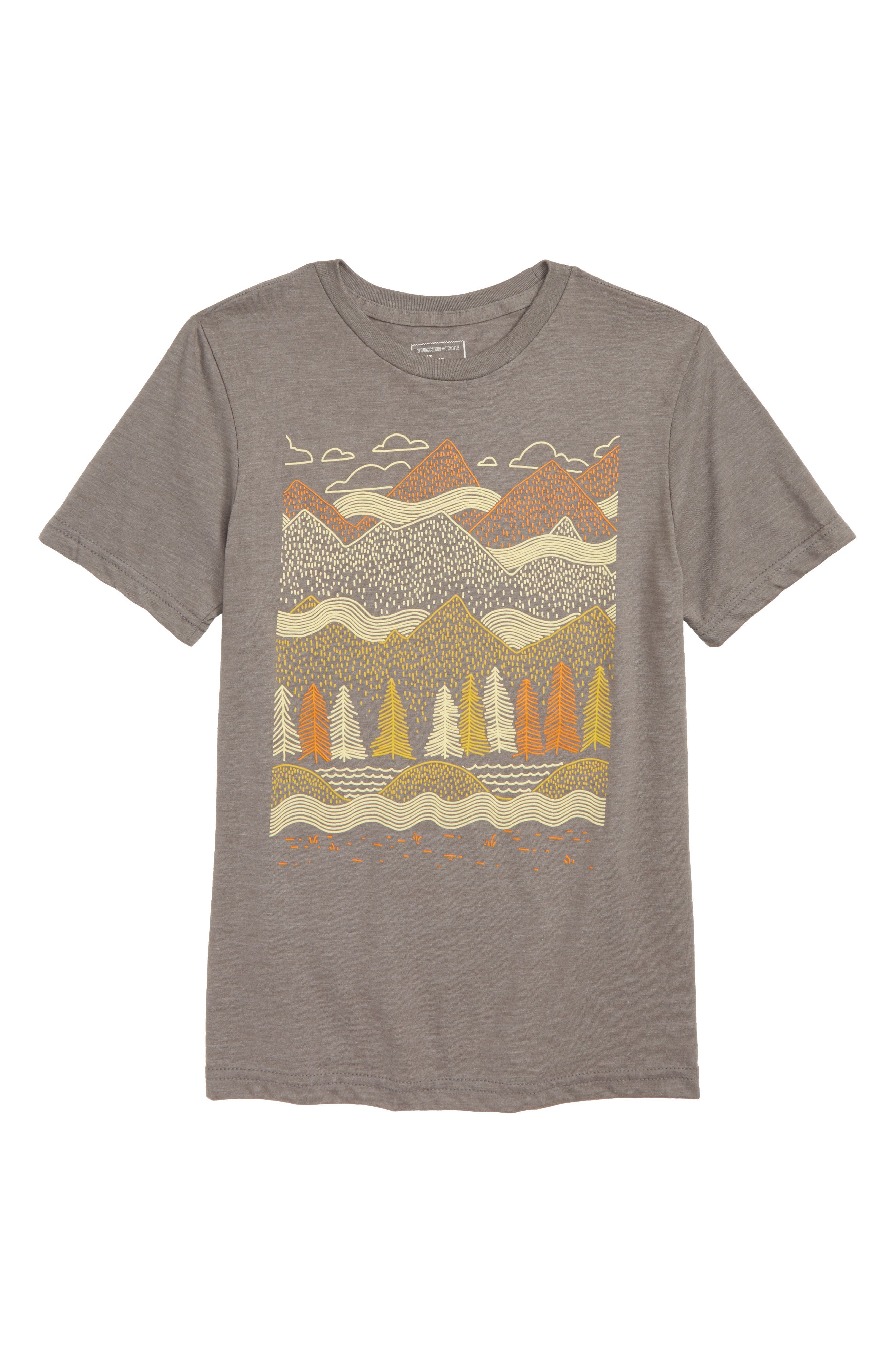 Graphic T-Shirt,                         Main,                         color, GREY PEWTER MOUNTAINS