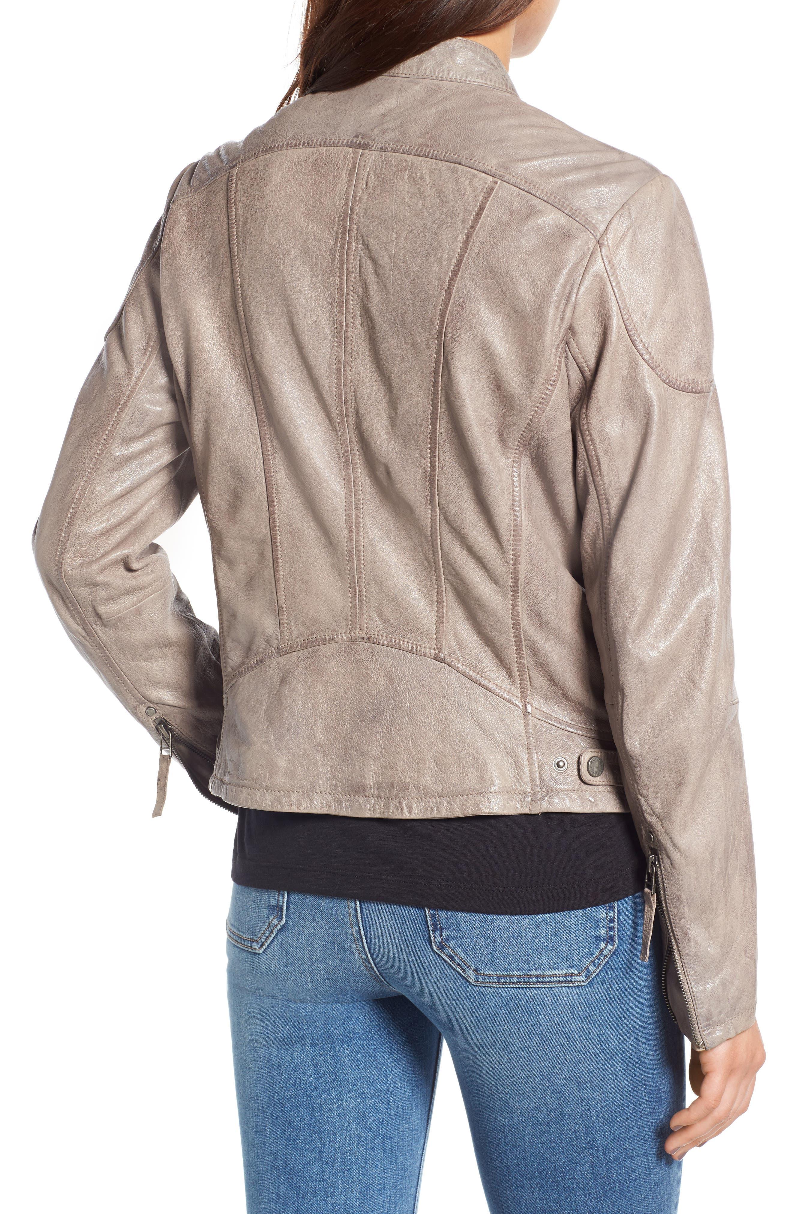 Leather Moto Jacket,                             Alternate thumbnail 2, color,                             020