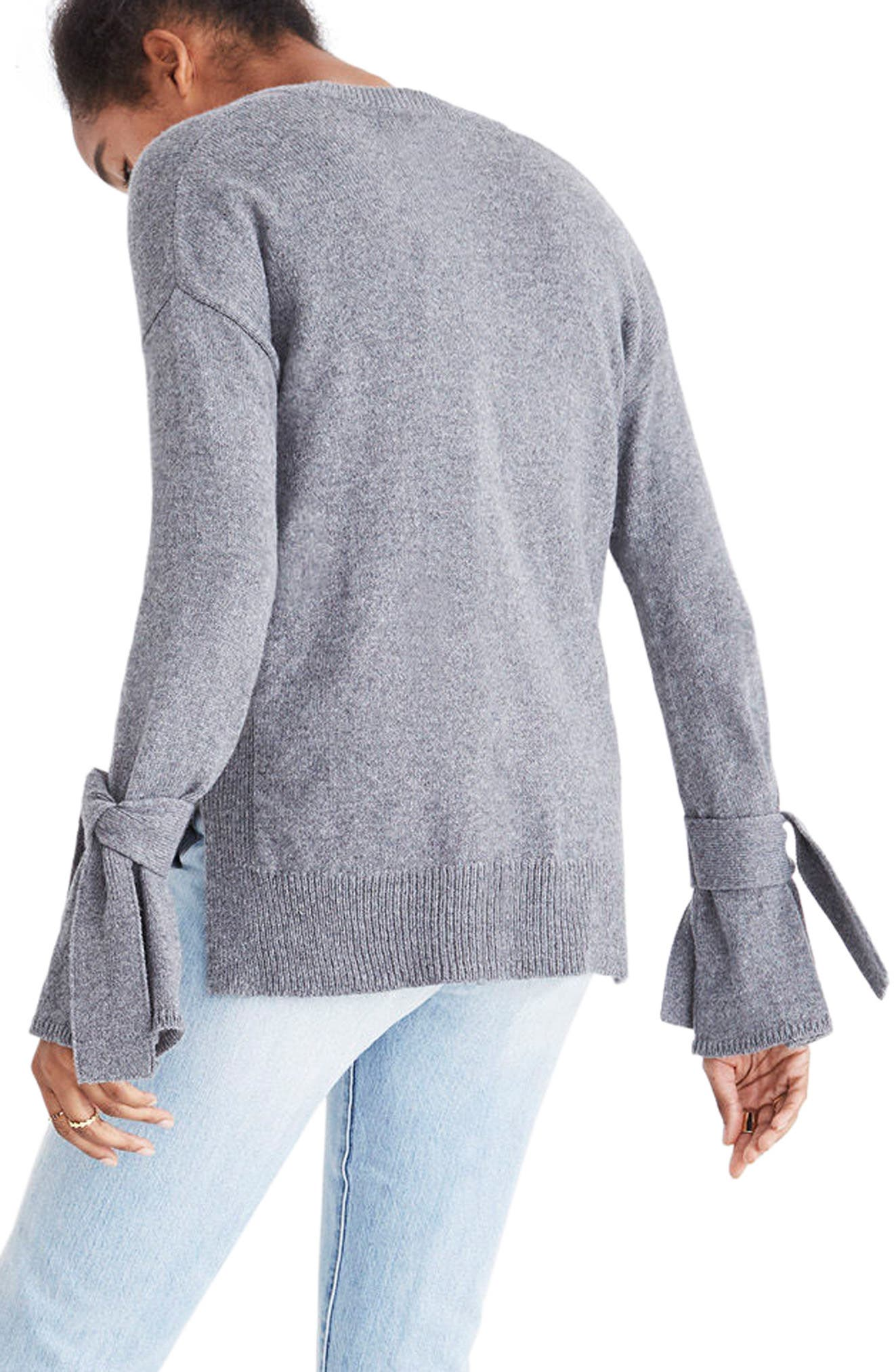 Tie Cuff Pullover Sweater,                             Alternate thumbnail 11, color,