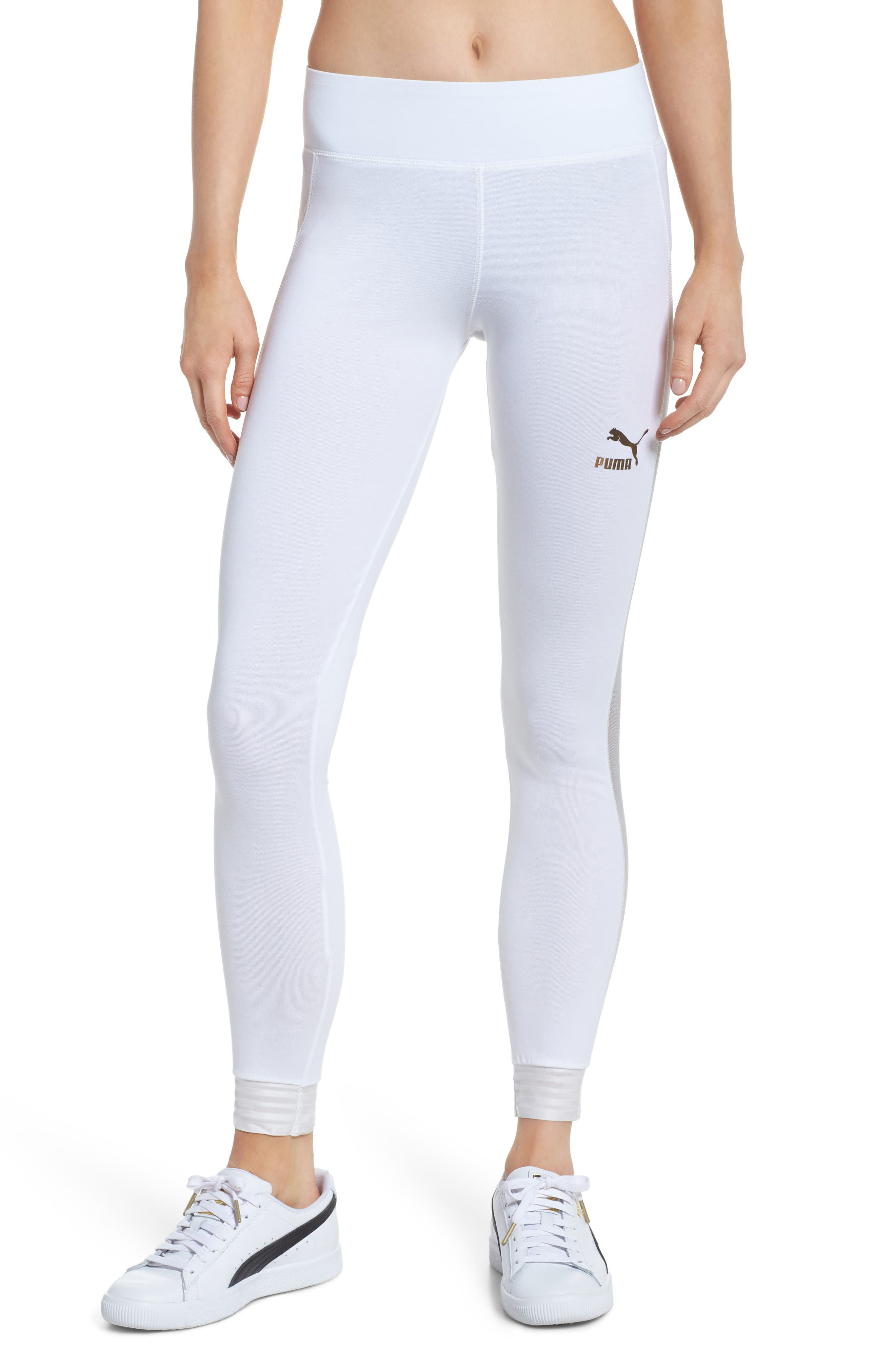 T7 Leggings,                         Main,                         color, PUMA WHITE