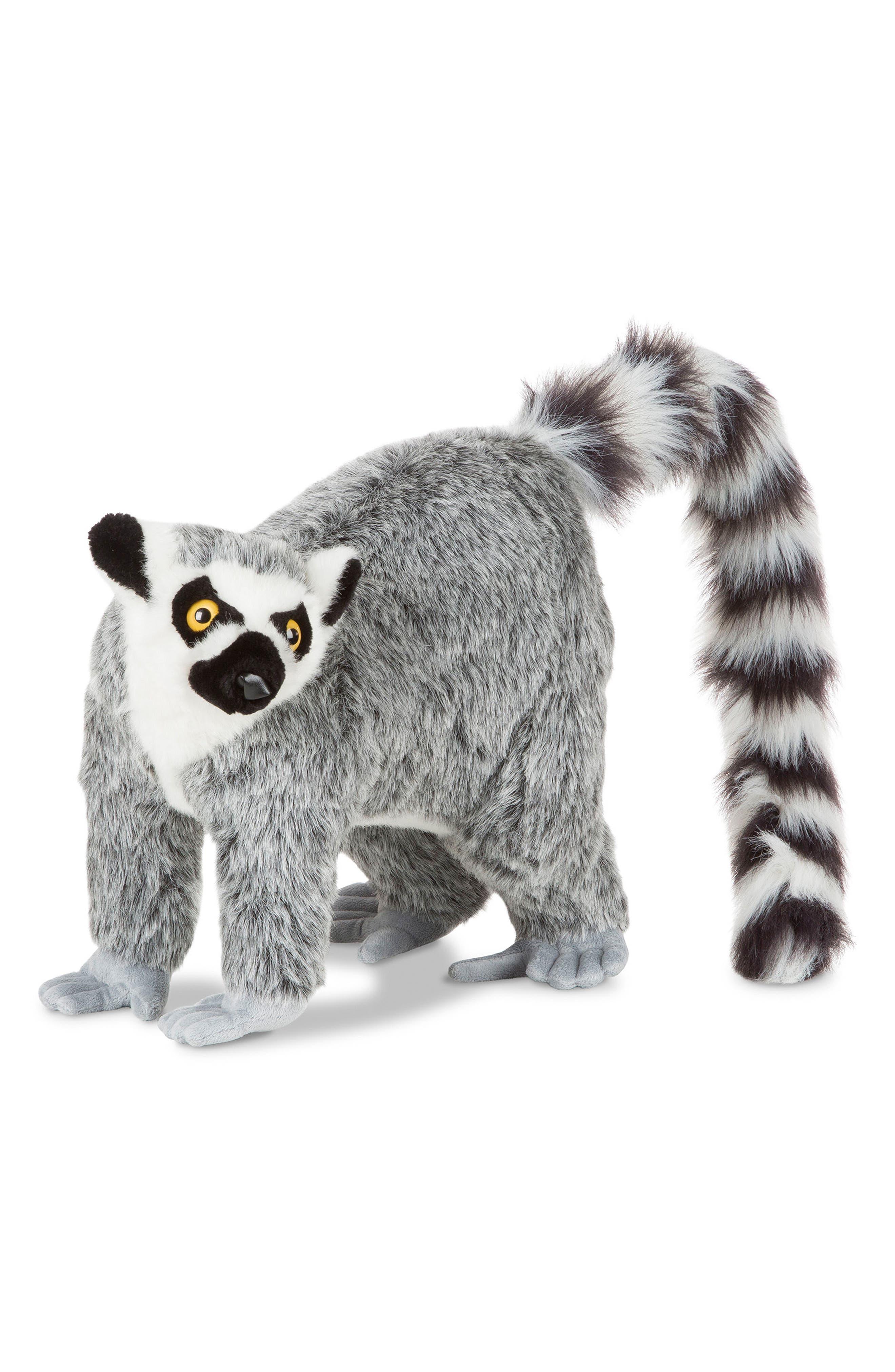 Lemur Stuffed Animal,                             Main thumbnail 1, color,                             GREY MULTI