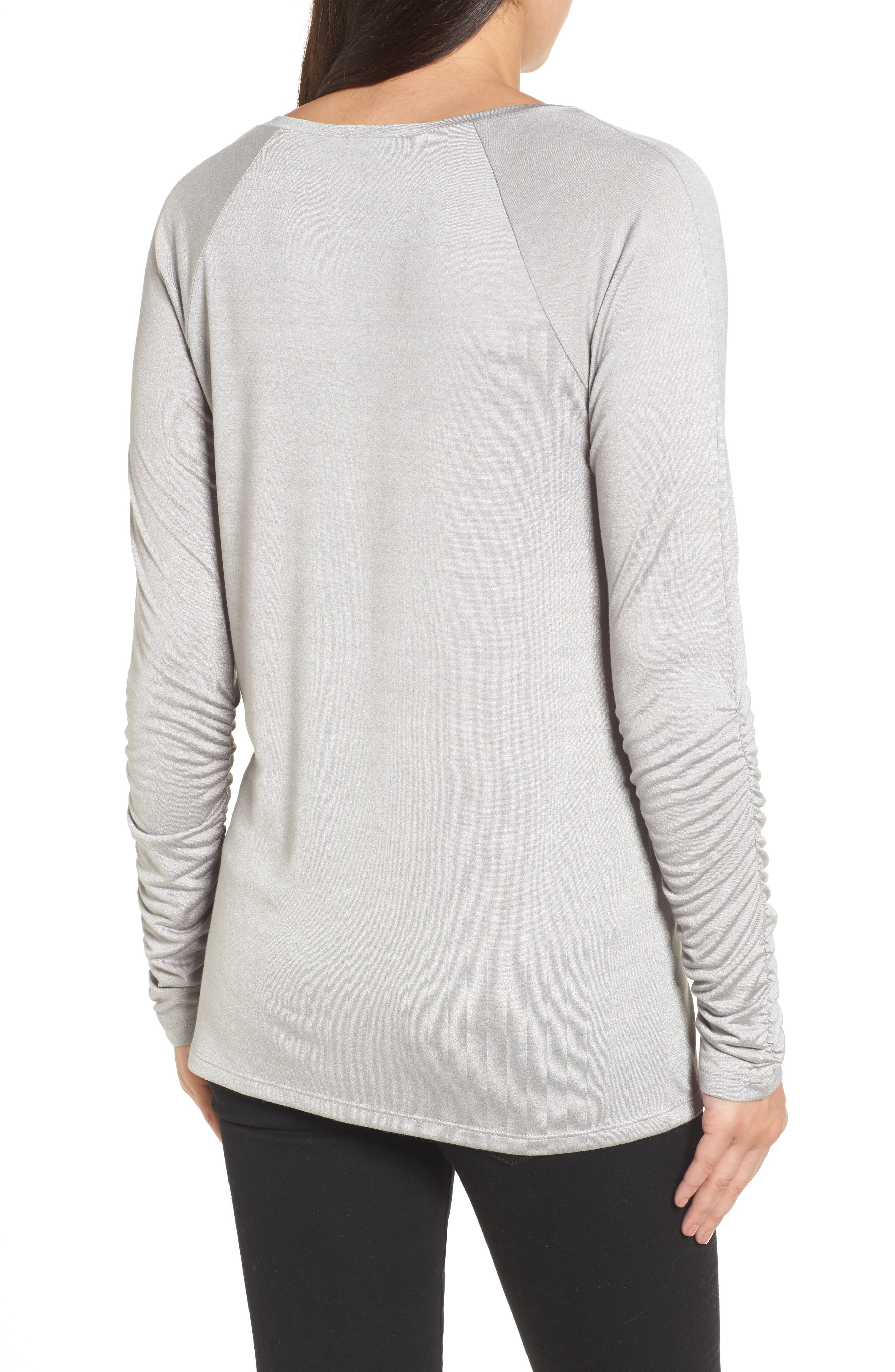 Ruched Sleeve Tee,                             Alternate thumbnail 6, color,