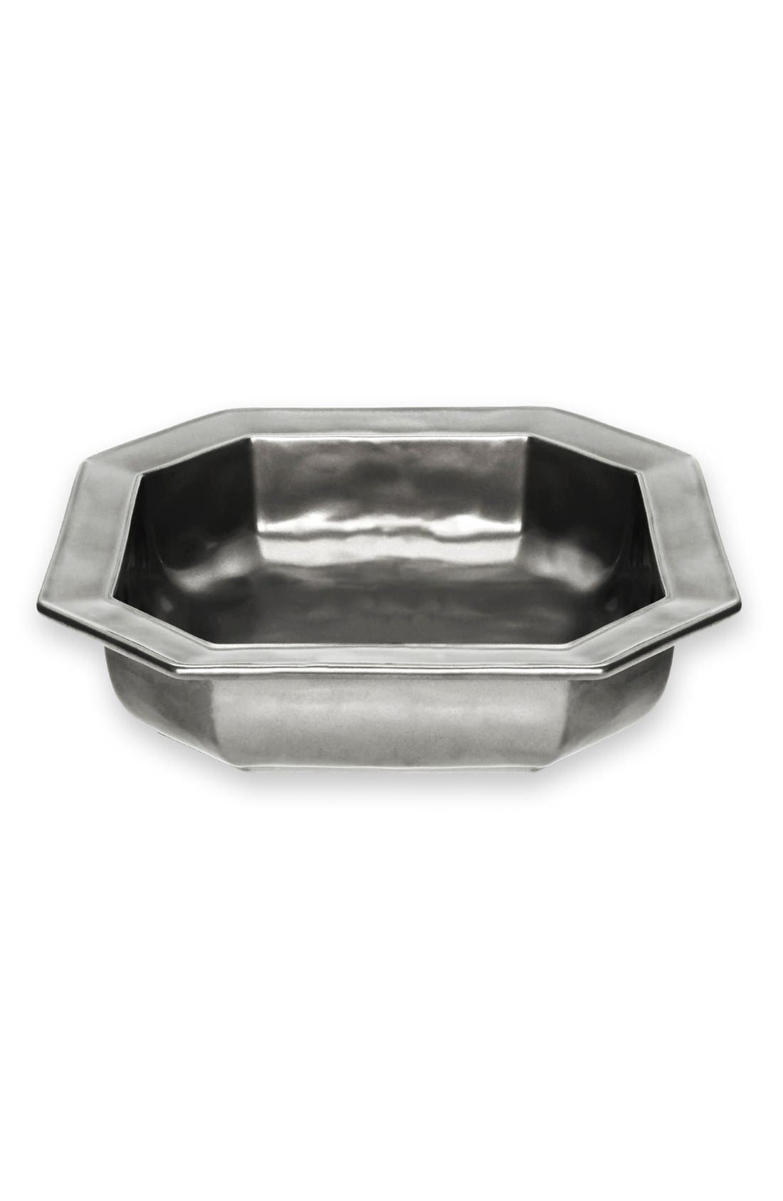 Pewter Stoneware Square Baker,                         Main,                         color,