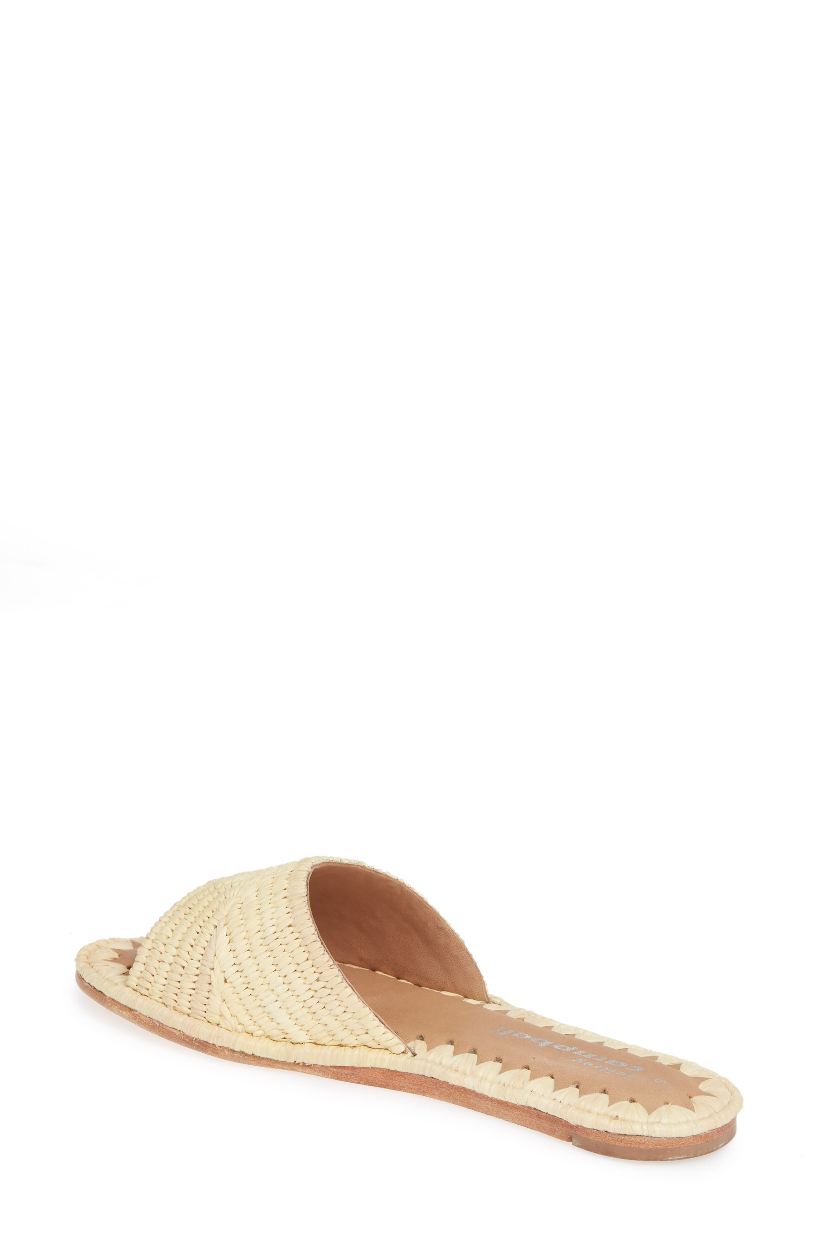 Dane Raffia Slide Sandal,                             Alternate thumbnail 2, color,                             NATURAL RAFFIA