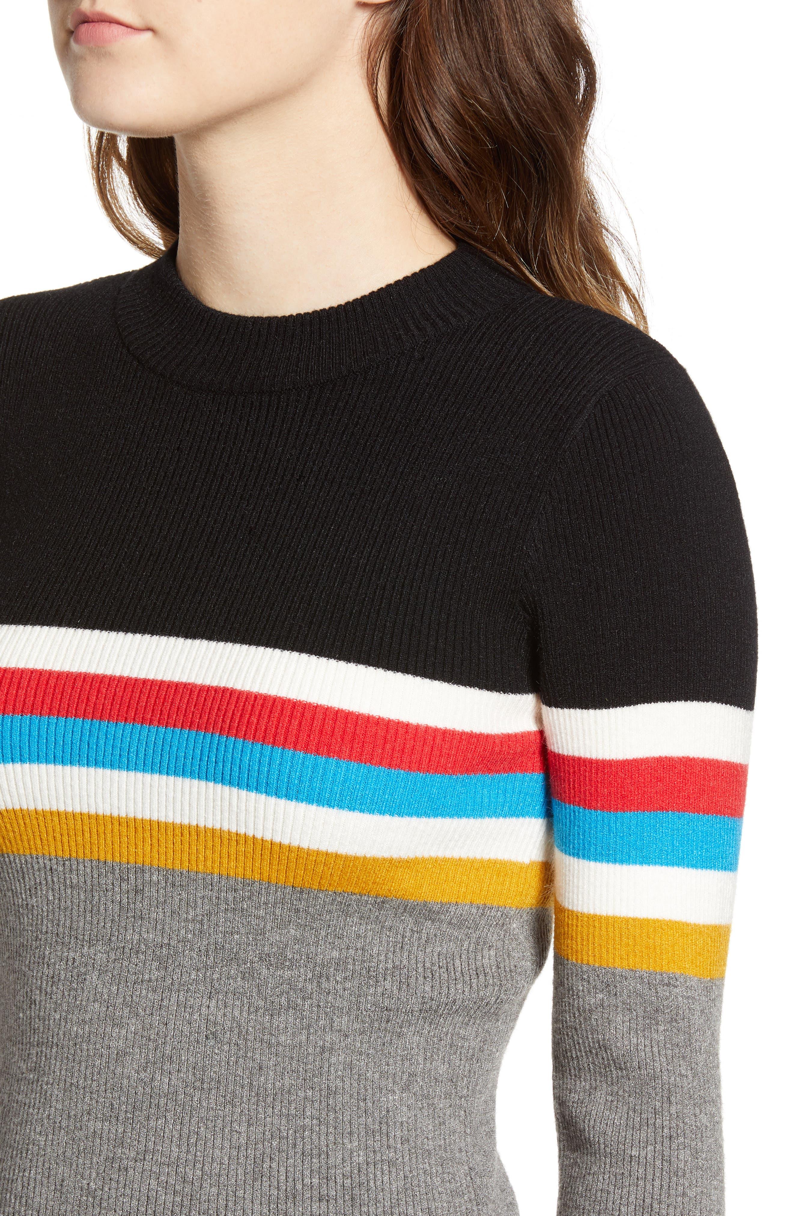 Stripe Sweater,                             Alternate thumbnail 4, color,                             038
