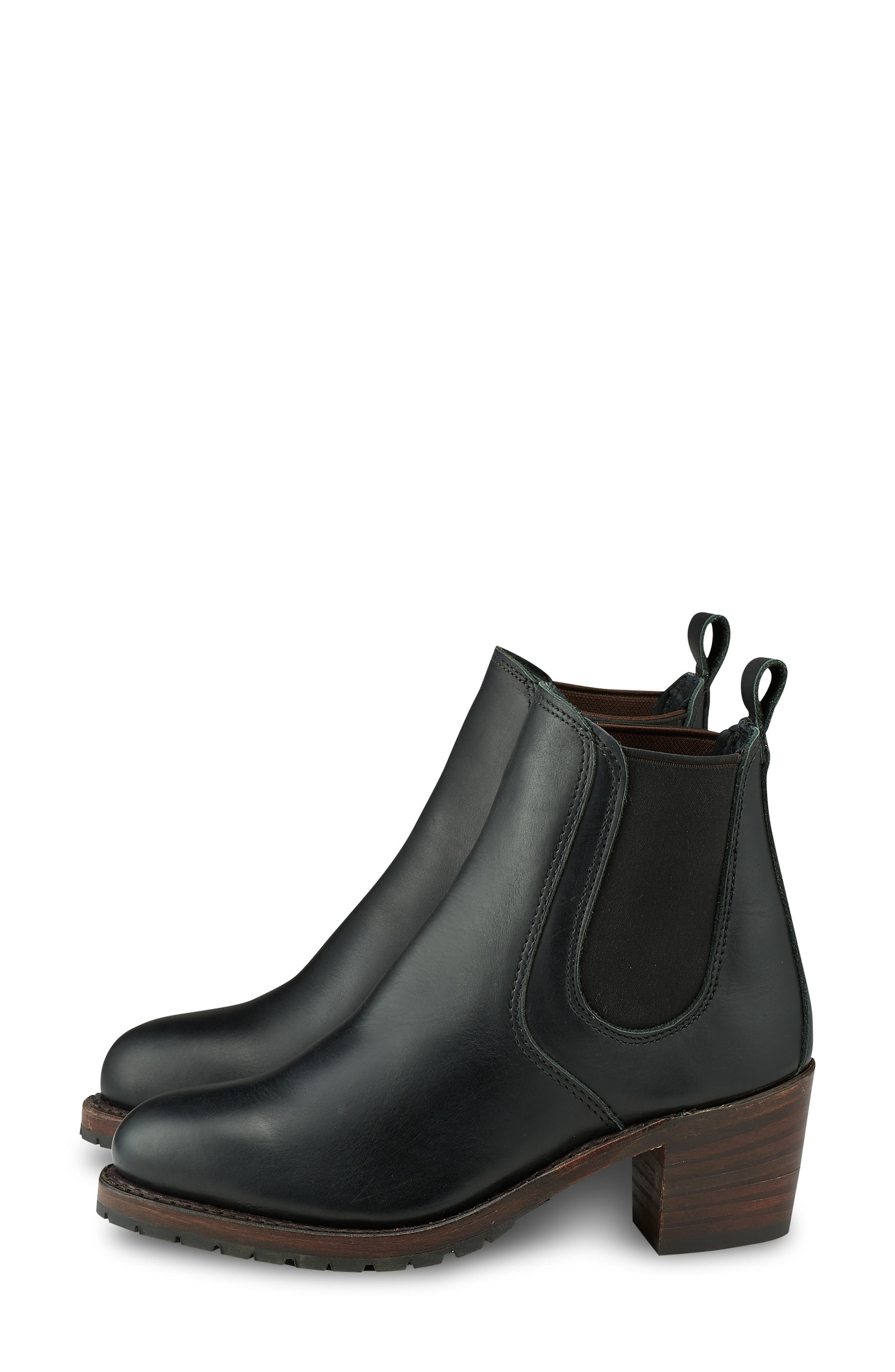 RED WING,                             Harriet Boot,                             Alternate thumbnail 2, color,                             BLACK BOUNDARY LEATHER
