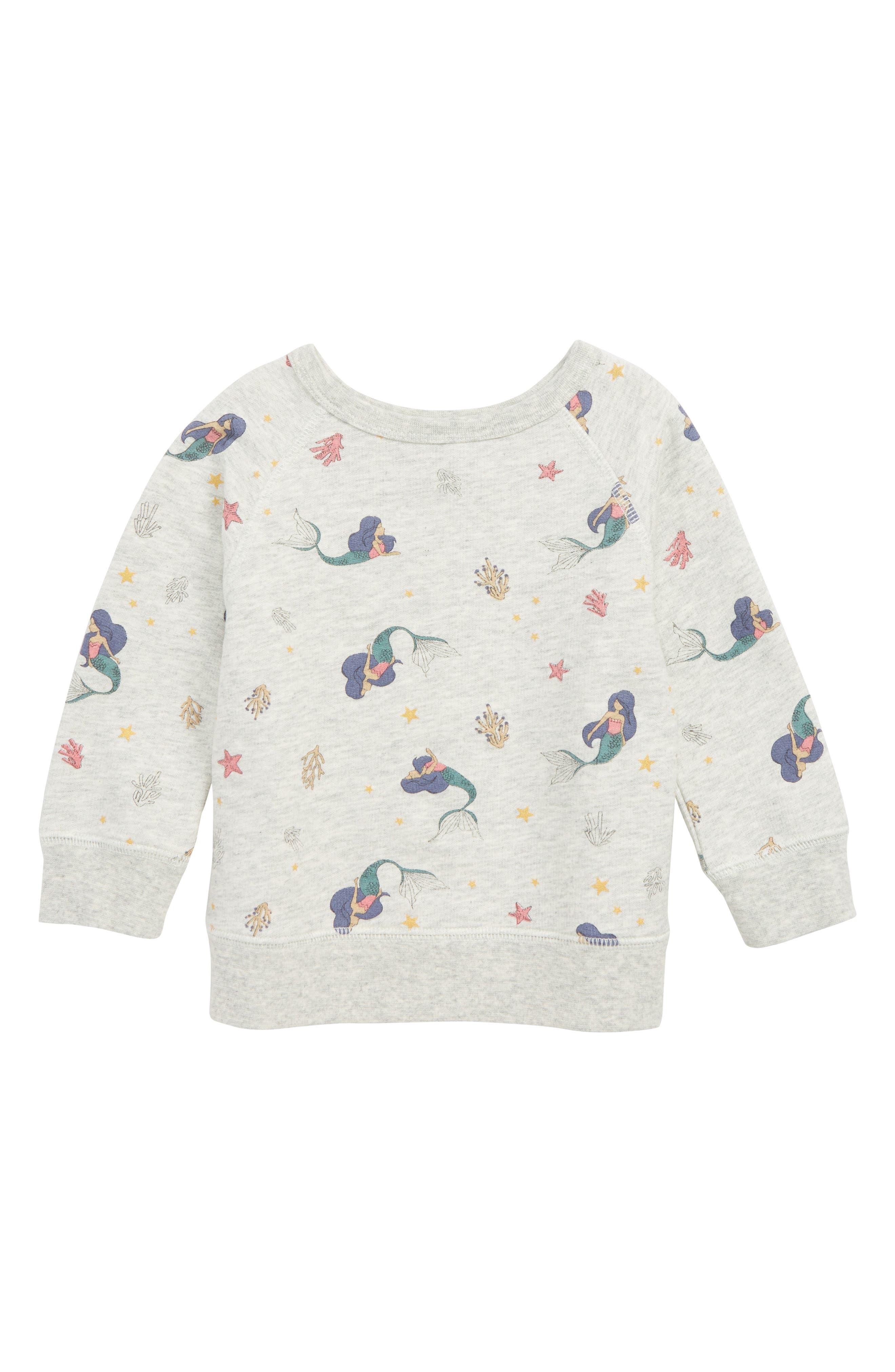 PEEK AREN'T YOU CURIOUS Mermaid Graphic Sweatshirt, Main, color, 277