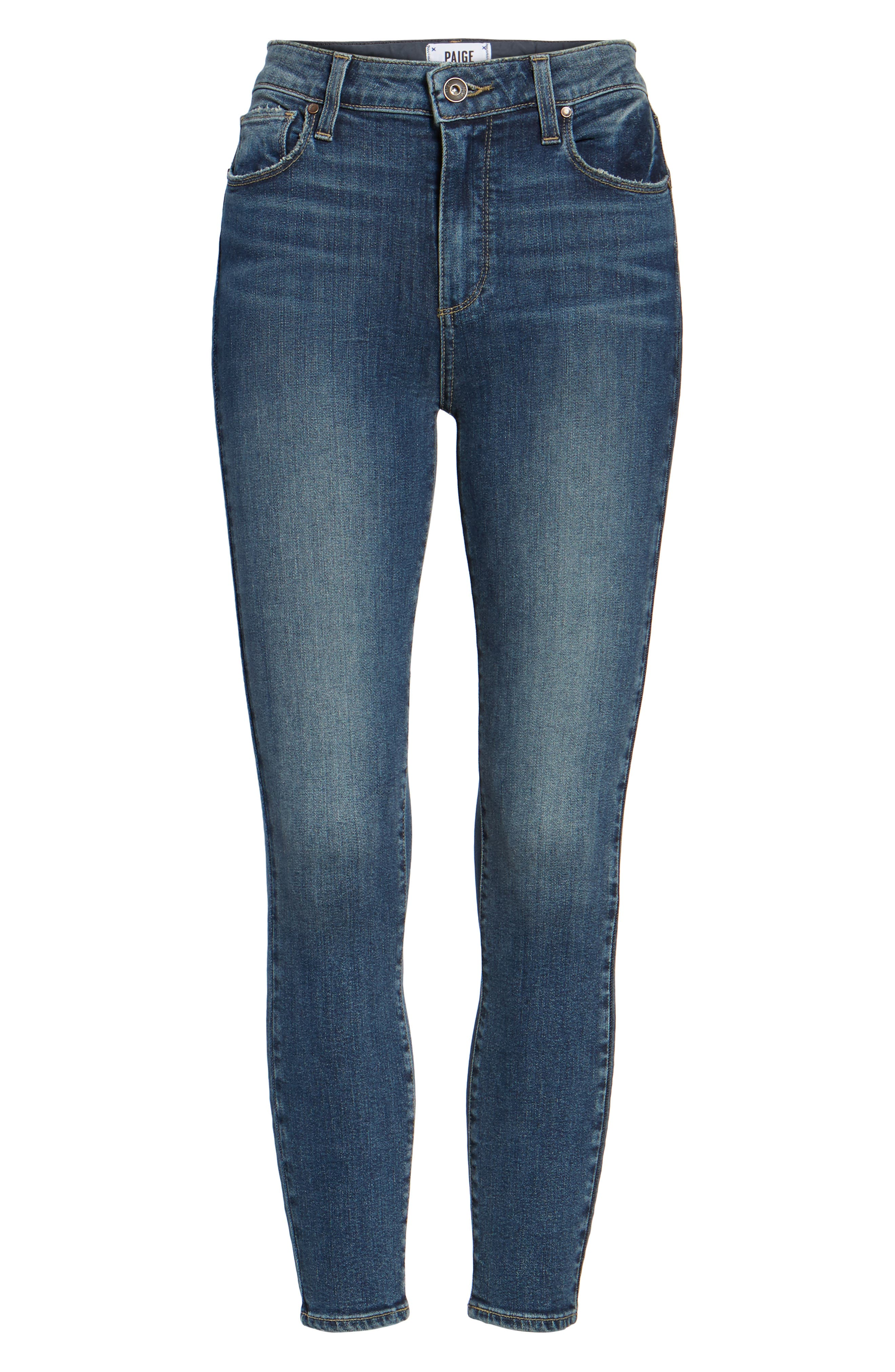 Hoxton High Waist Crop Skinny Jeans,                             Alternate thumbnail 7, color,                             400