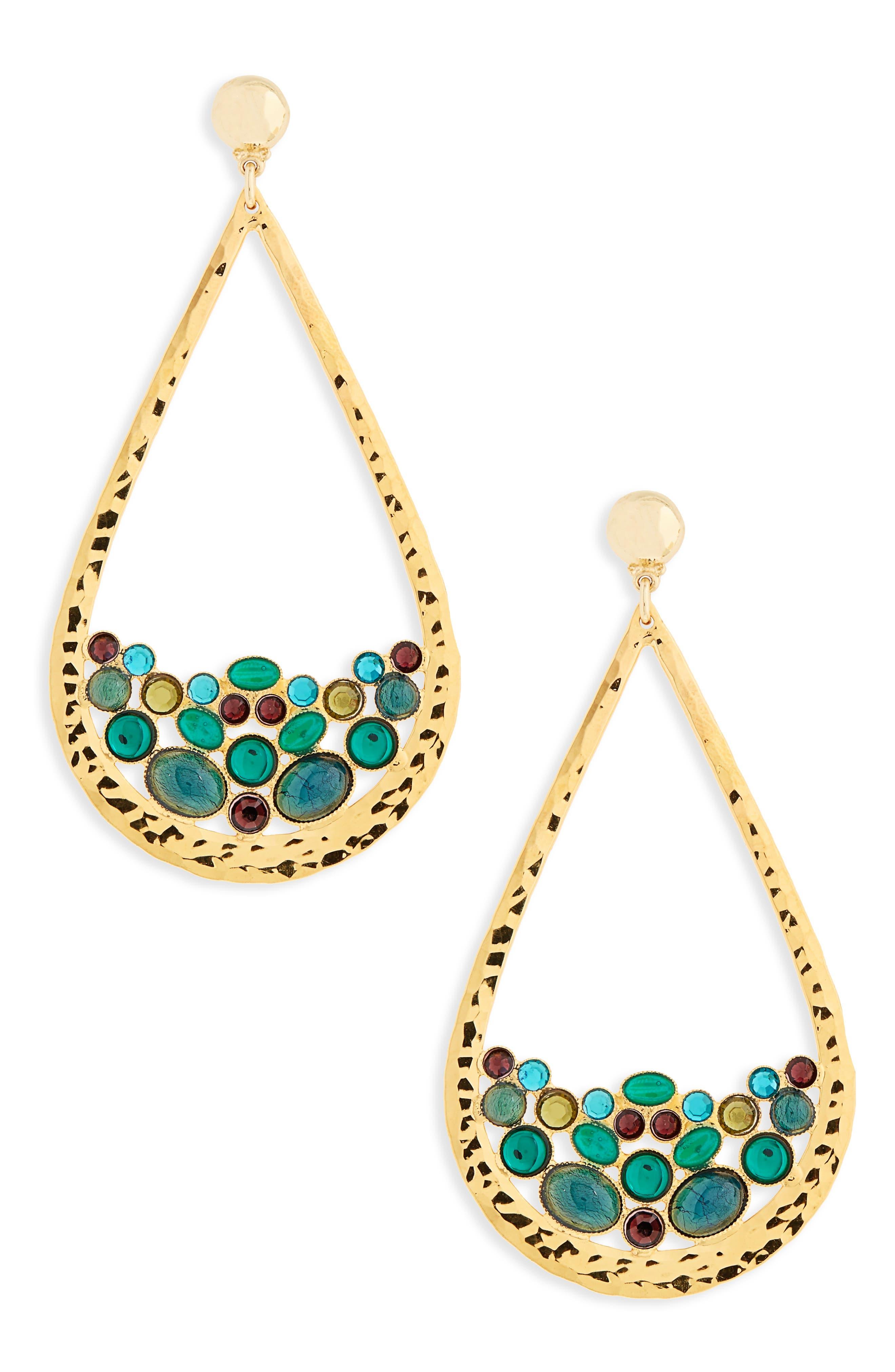 Byzance Crystal Drop Earrings,                         Main,                         color, 400