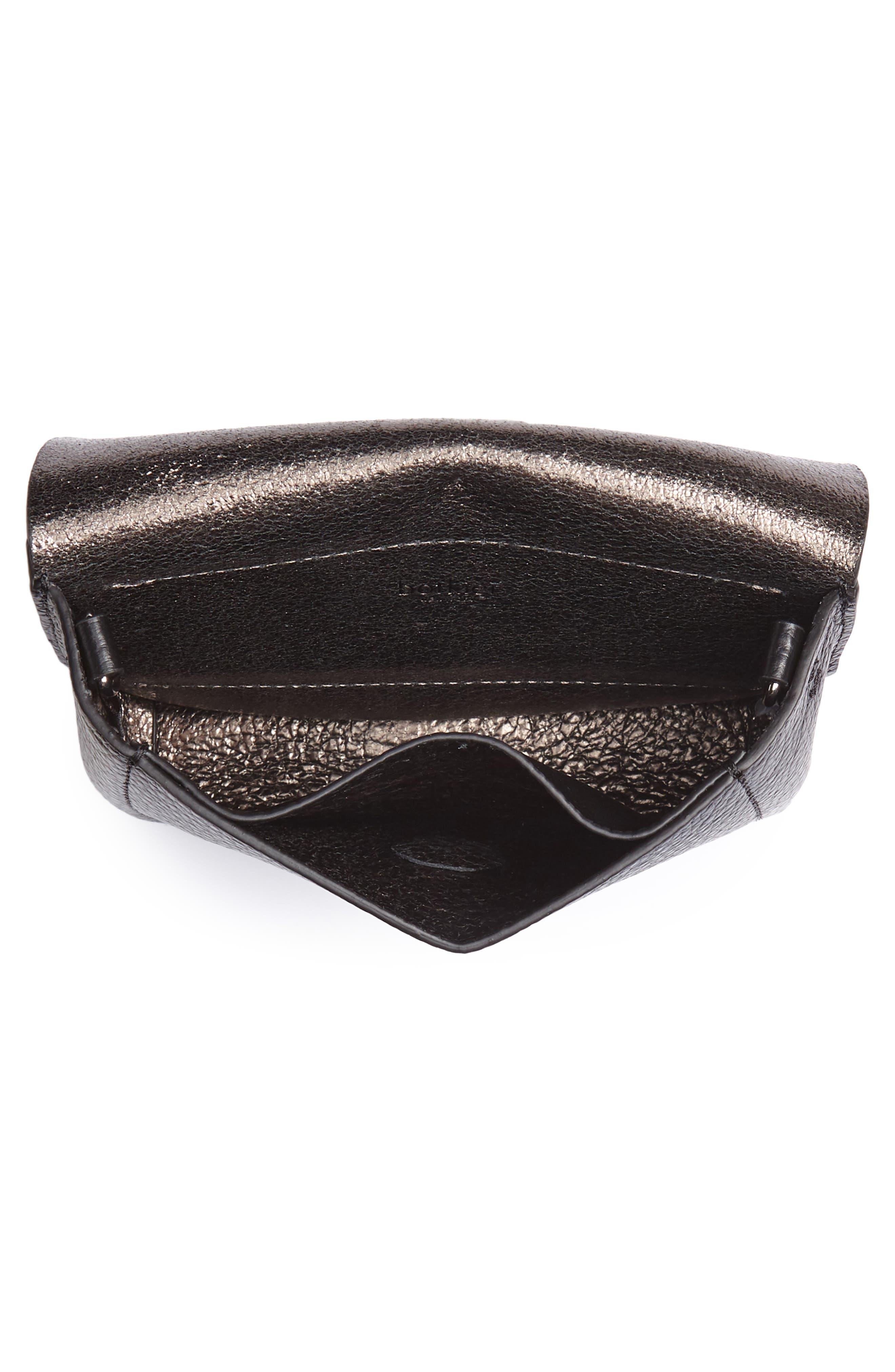 Vivi Calfskin Leather Convertible Belt Bag,                             Alternate thumbnail 6, color,                             BLACK