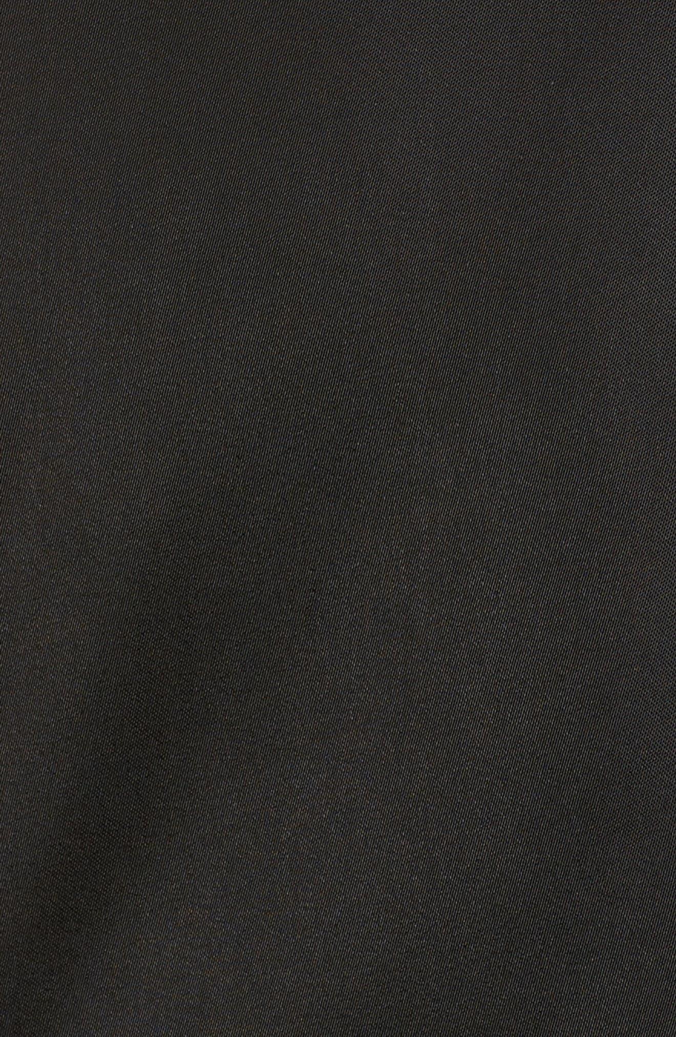 Faux Fur Trim Military Jacket,                             Alternate thumbnail 6, color,                             001