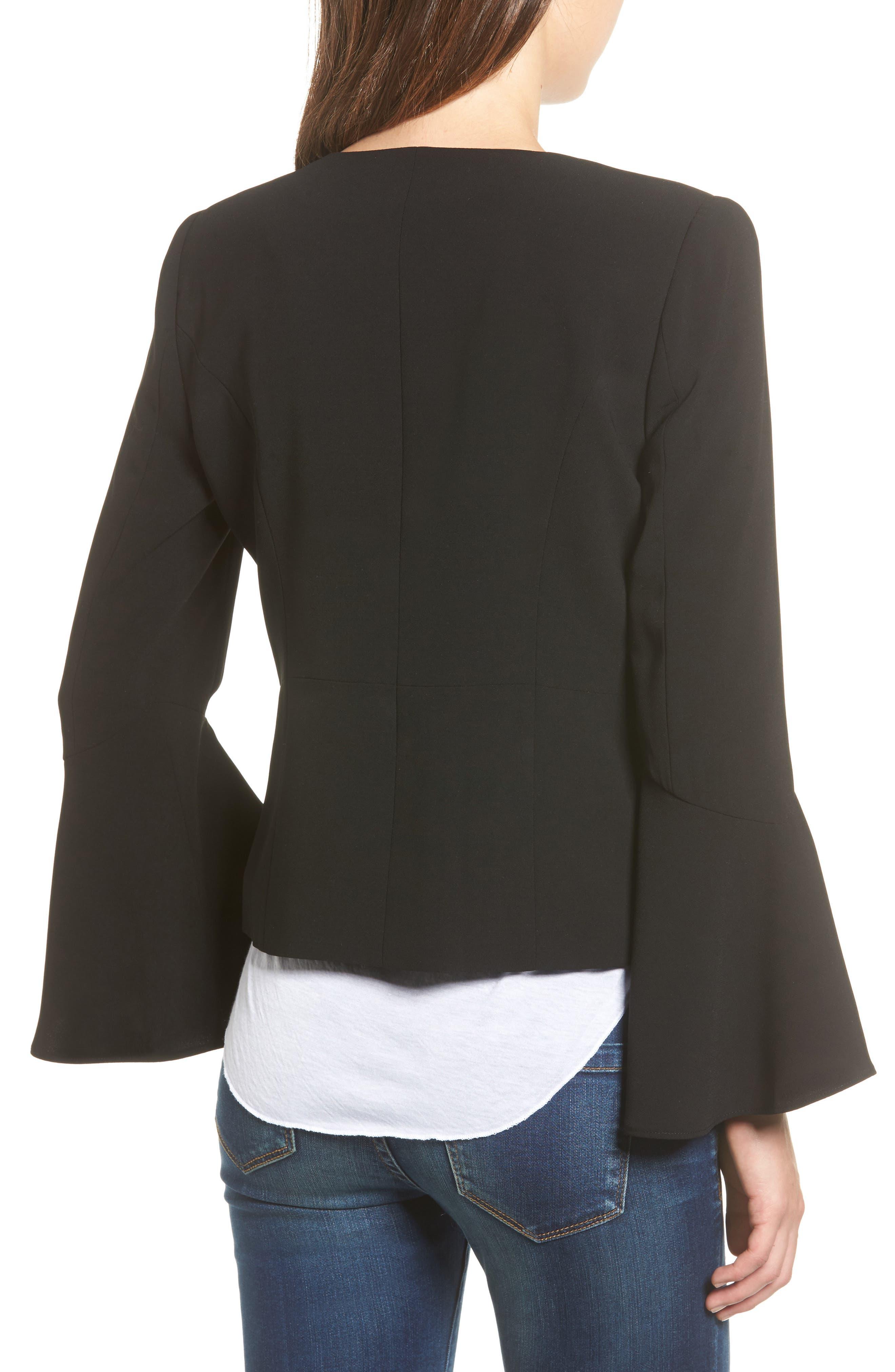 Bell Sleeve Jacket,                             Alternate thumbnail 2, color,                             001