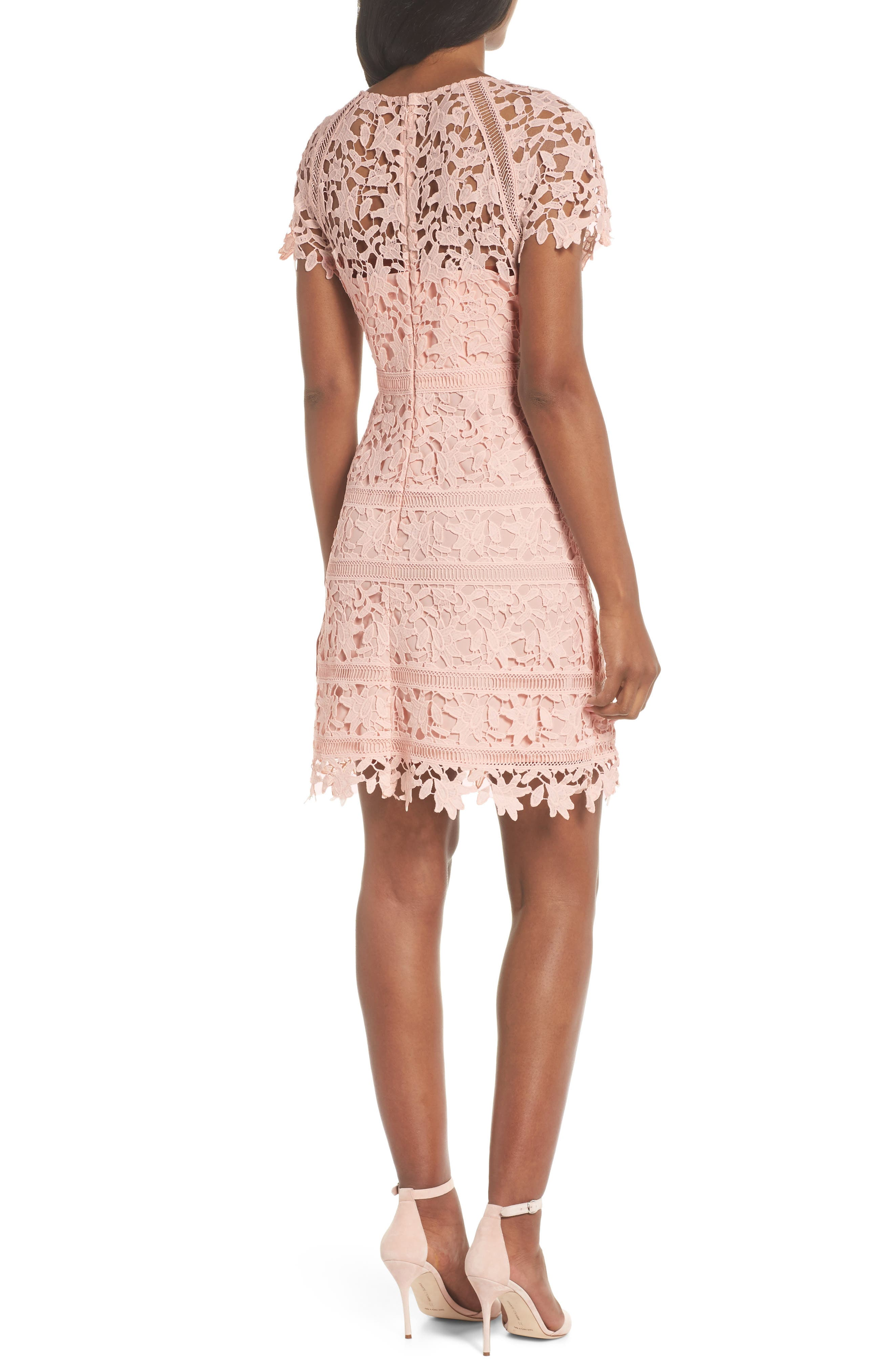 Crochet Overlay Dress,                             Alternate thumbnail 2, color,                             BLUSH