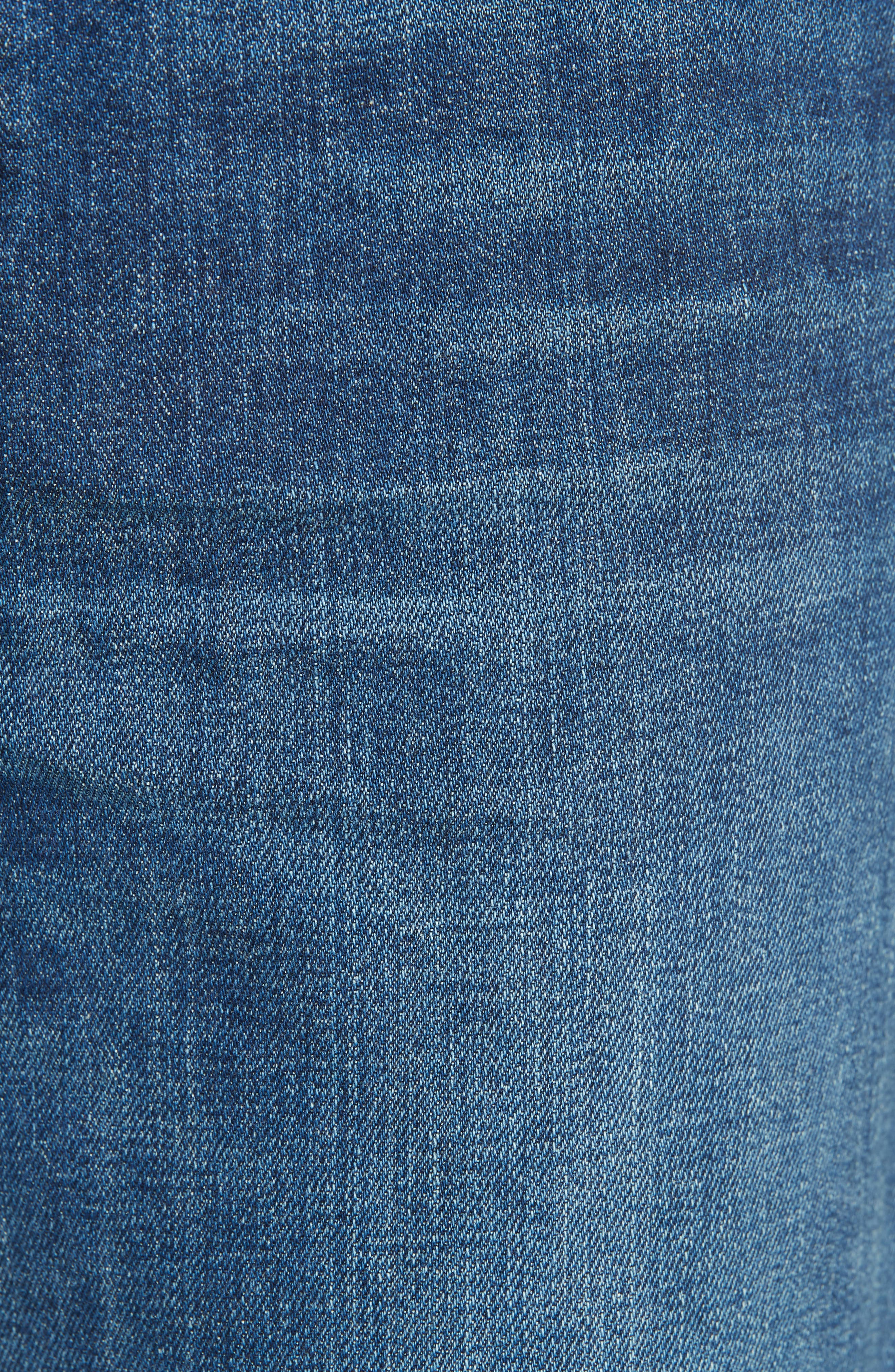 Wide Flare Leg Jeans,                             Alternate thumbnail 5, color,                             TRUE VINTAGE WASH