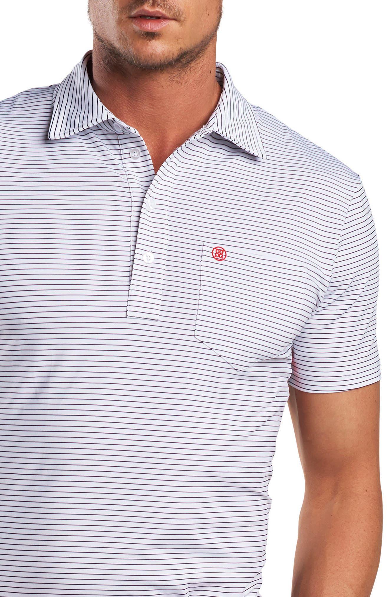 Stripe Regular Fit Polo,                             Alternate thumbnail 3, color,                             100