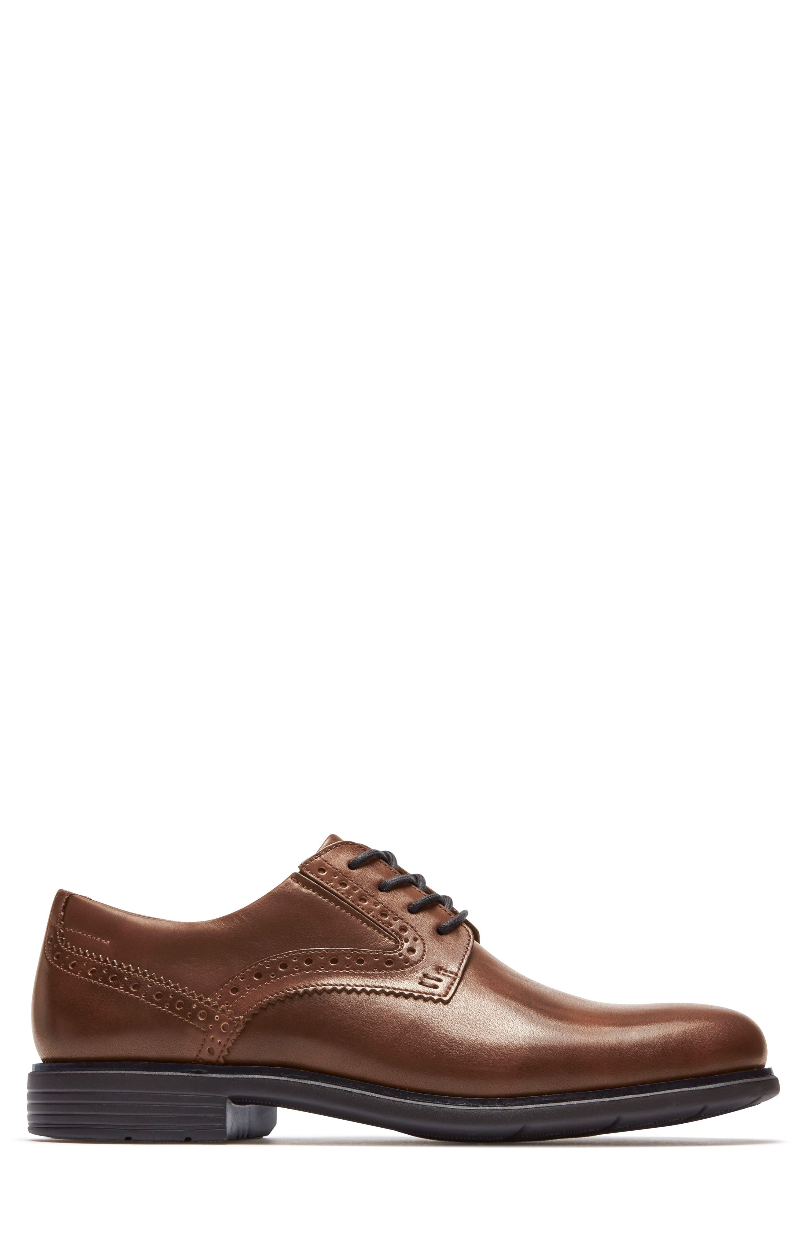 Total Motion Classic Plain Toe Derby,                             Alternate thumbnail 3, color,                             NEW BROWN LEATHER