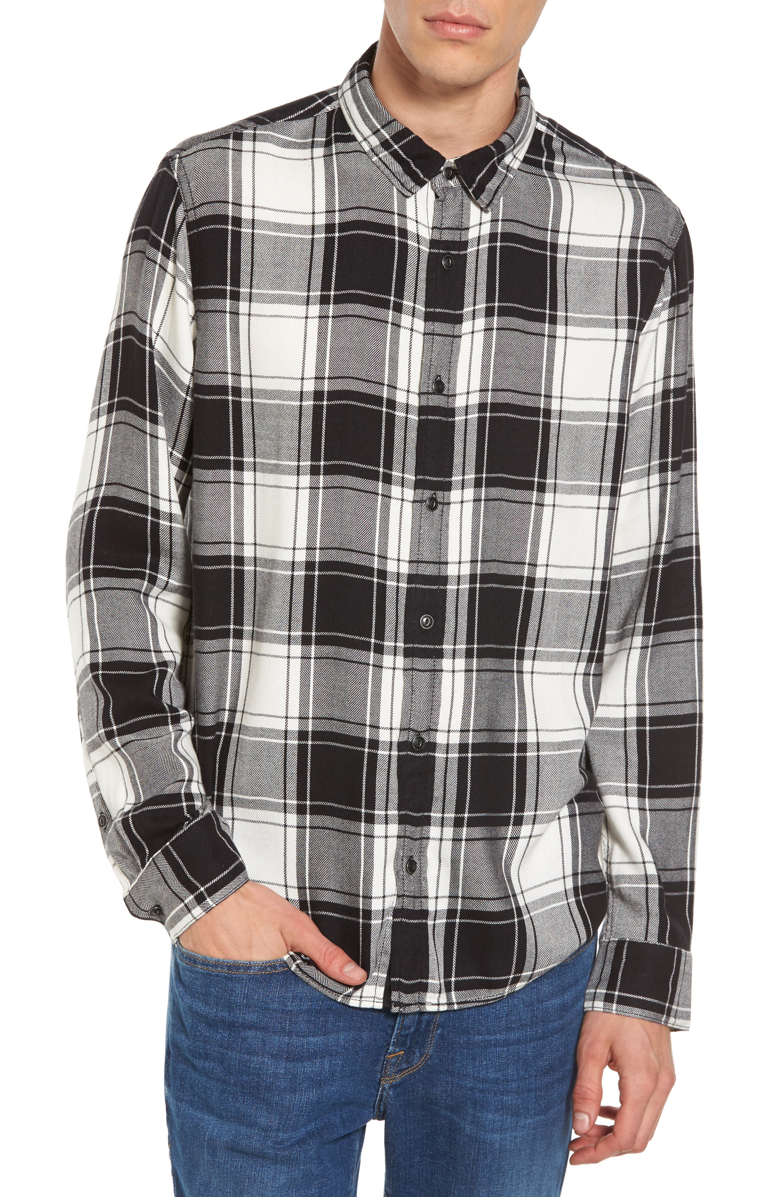 Virgil Plaid Sport Shirt,                         Main,                         color, 001