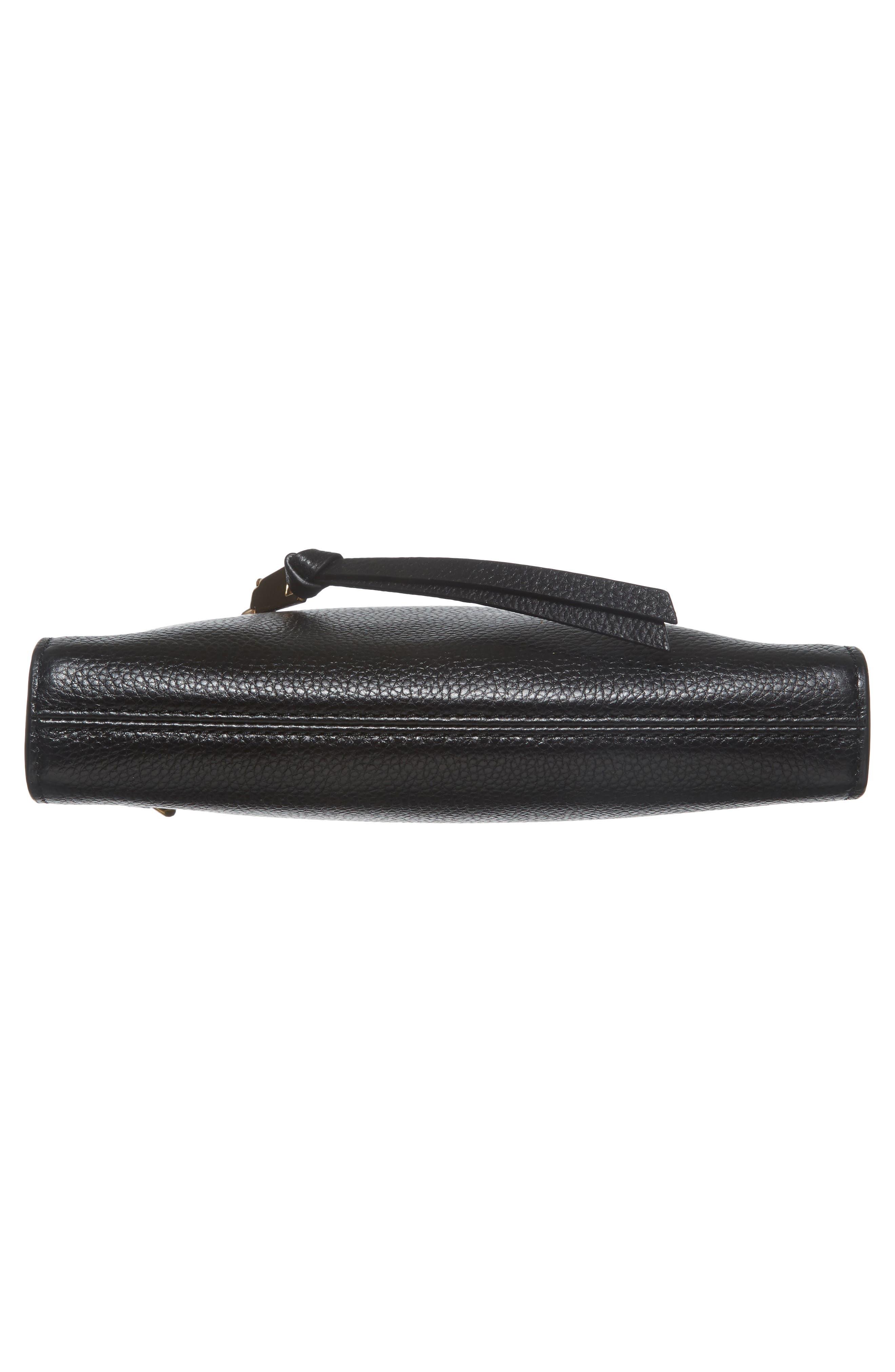 Small Recruit Leather Crossbody Bag,                             Alternate thumbnail 6, color,                             001