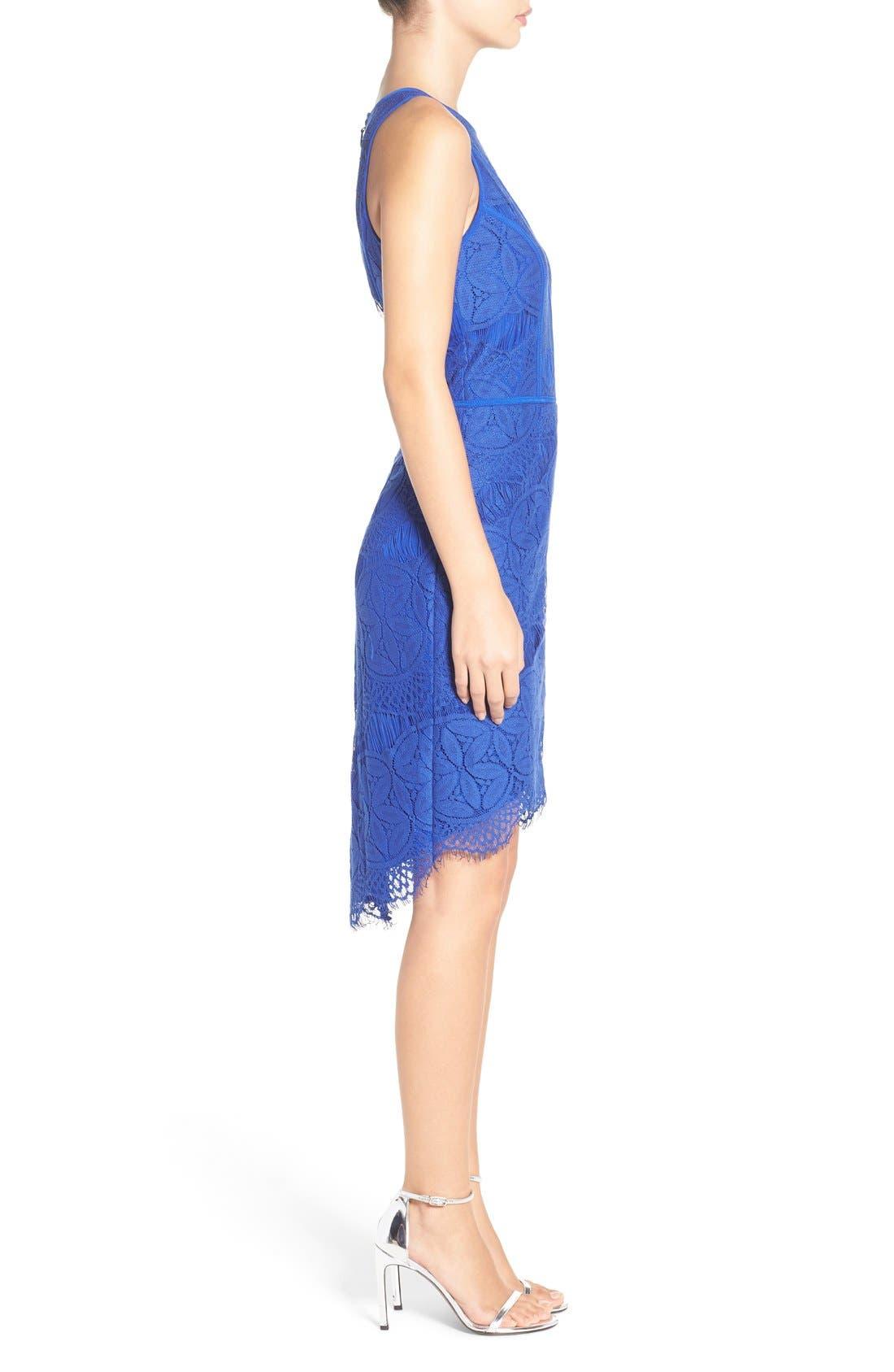 Lace High/Low Sheath Dress,                             Alternate thumbnail 38, color,